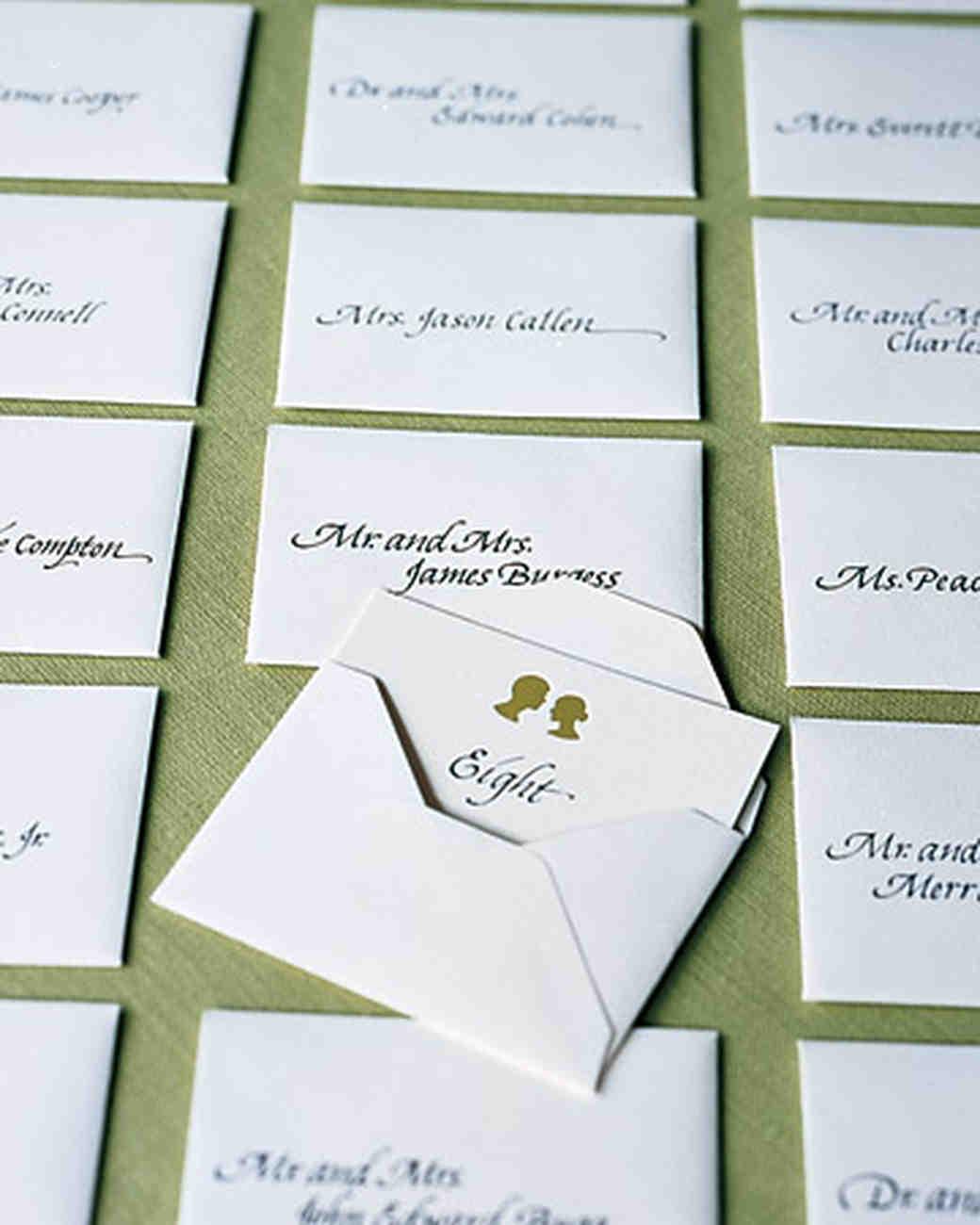 envelopes Escort card