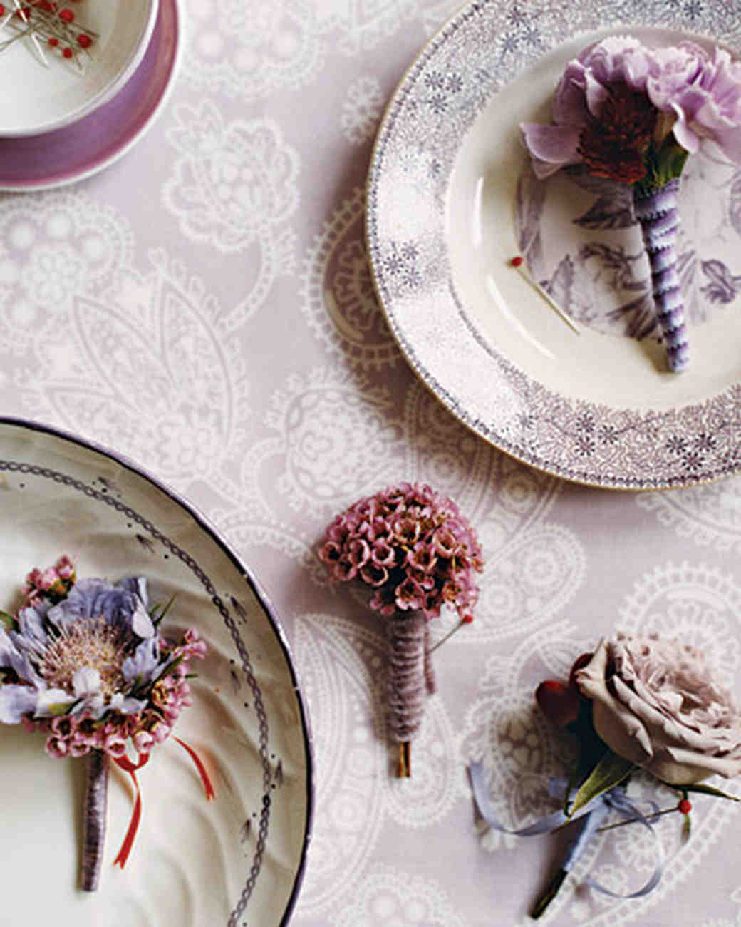 Wedding Colors: Lavender and Red | Martha Stewart Weddings