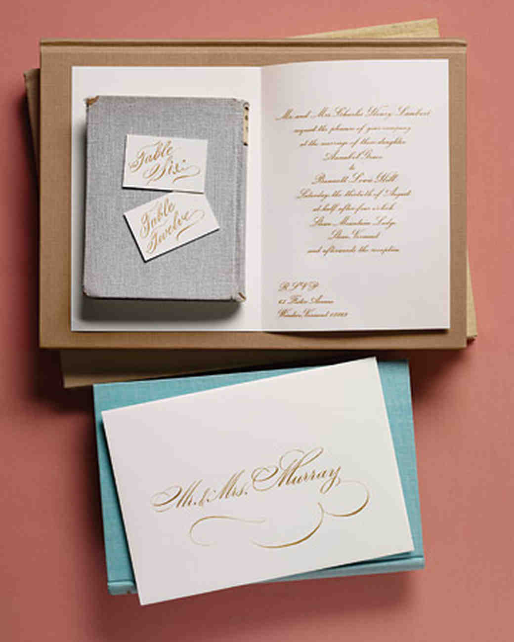 Anatomy of an invitation for every style of event martha stewart for the true traditionalist stopboris Images