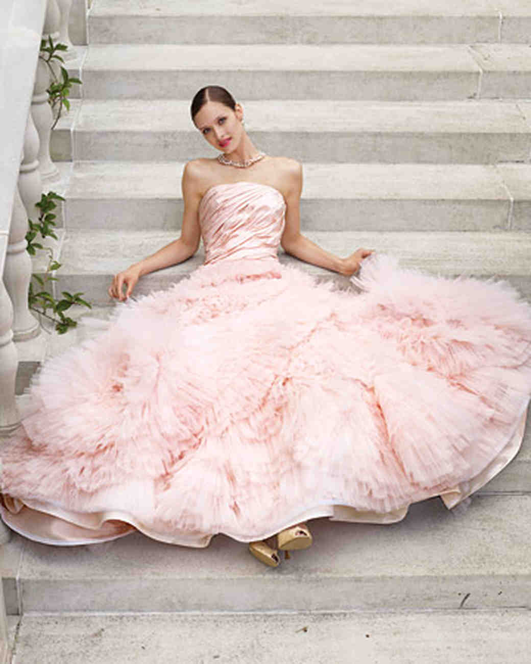 Pink Tulle Gown: Haute Couture Wedding Dress Sitting At Reisefeber.org