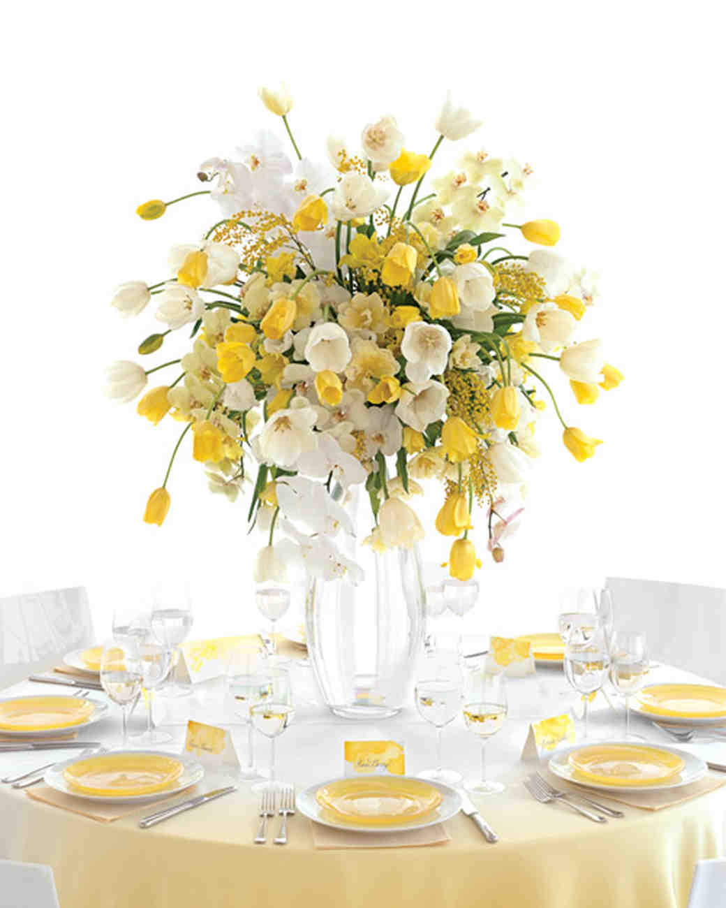 Yellow Wedding Centerpieces | Martha Stewart Weddings