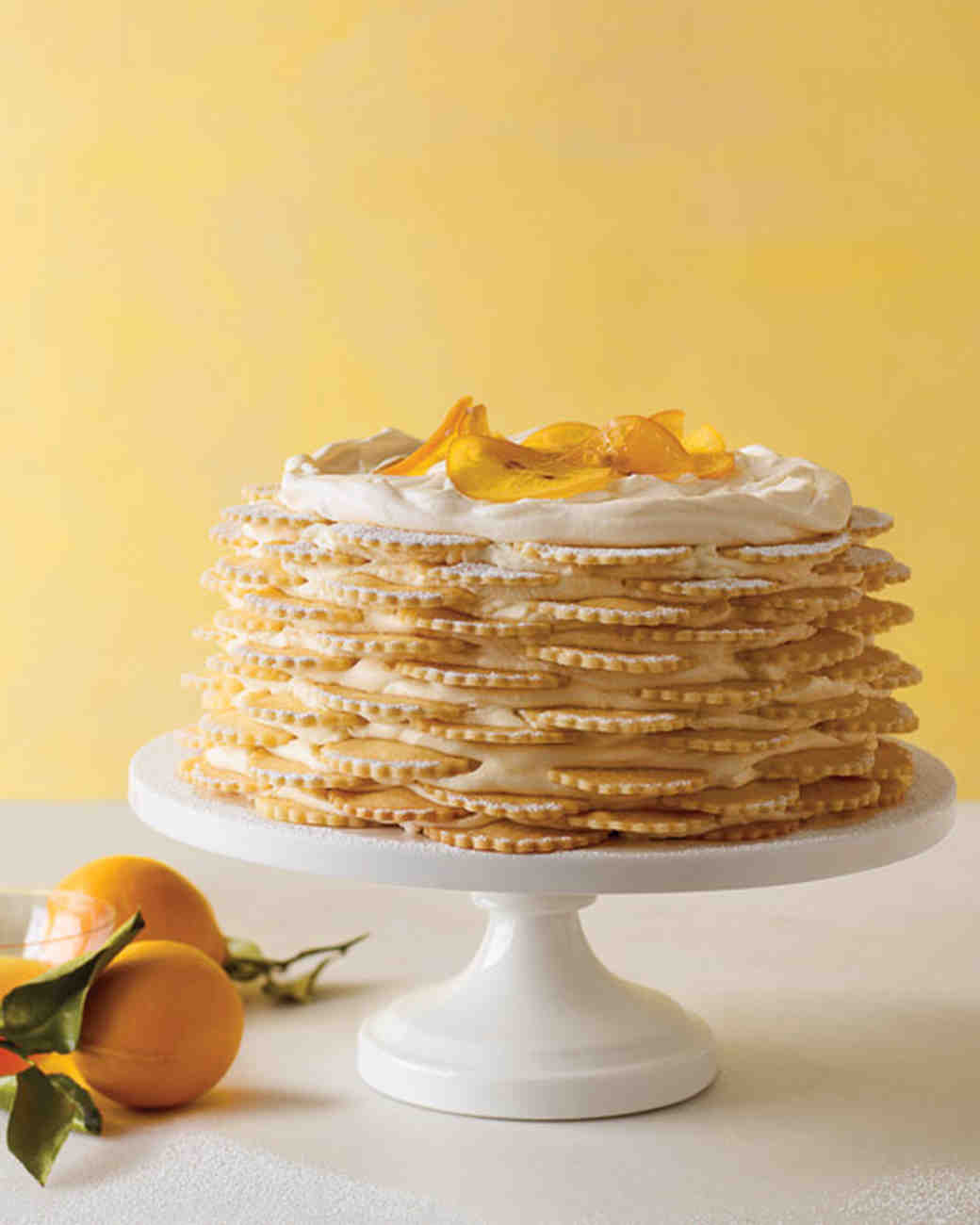 Lemon Icebox Cake with Scalloped Lemon Cookies