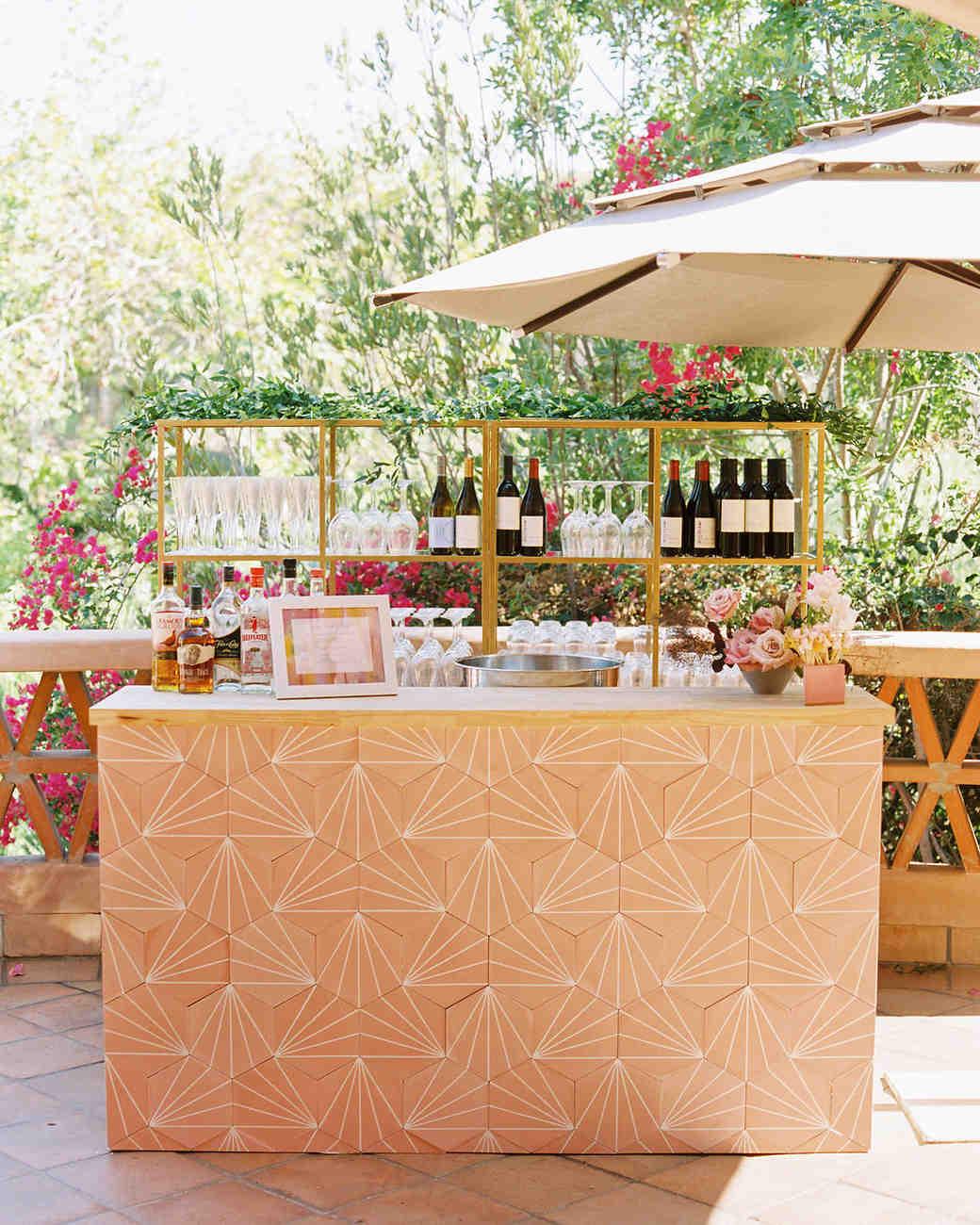 paige zack wedding bar with umbrella