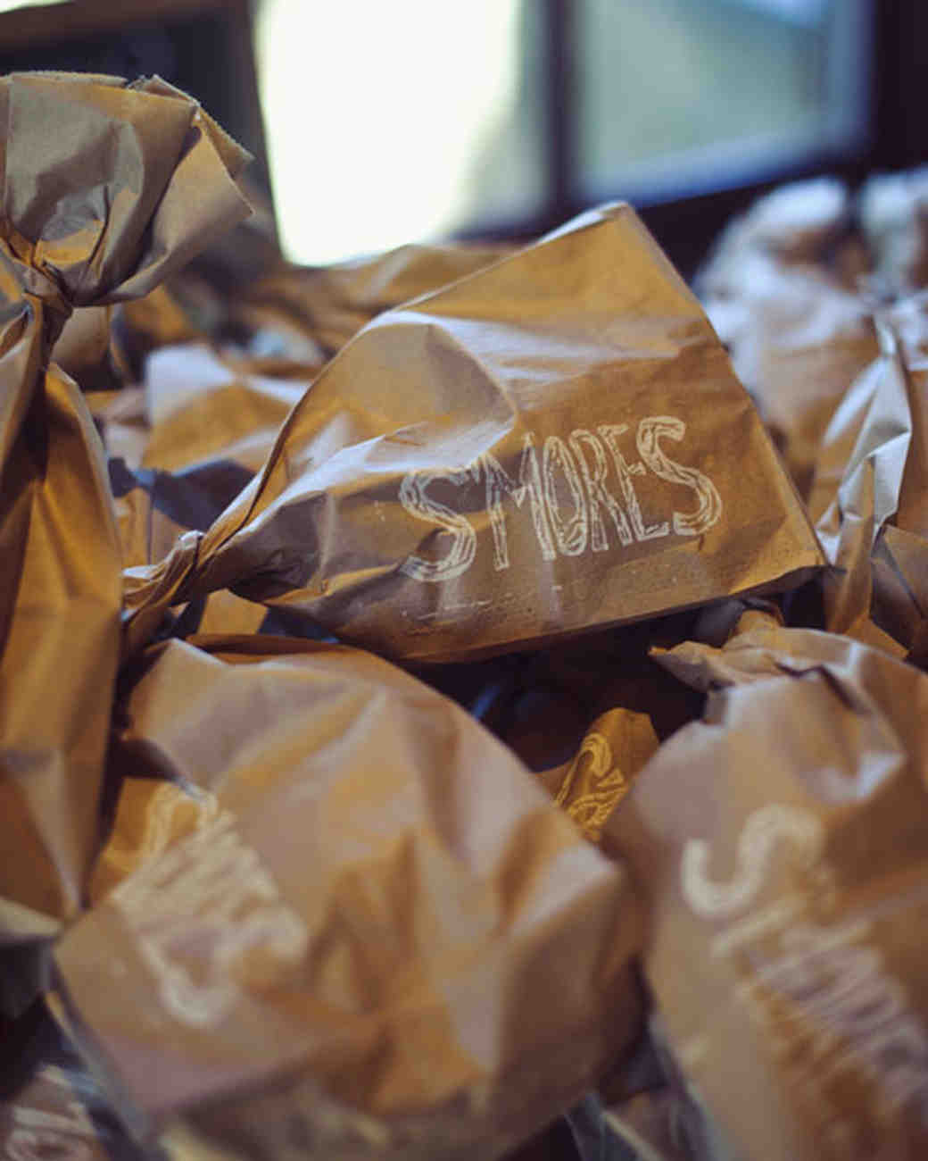 Paper Bag S'Mores Favors