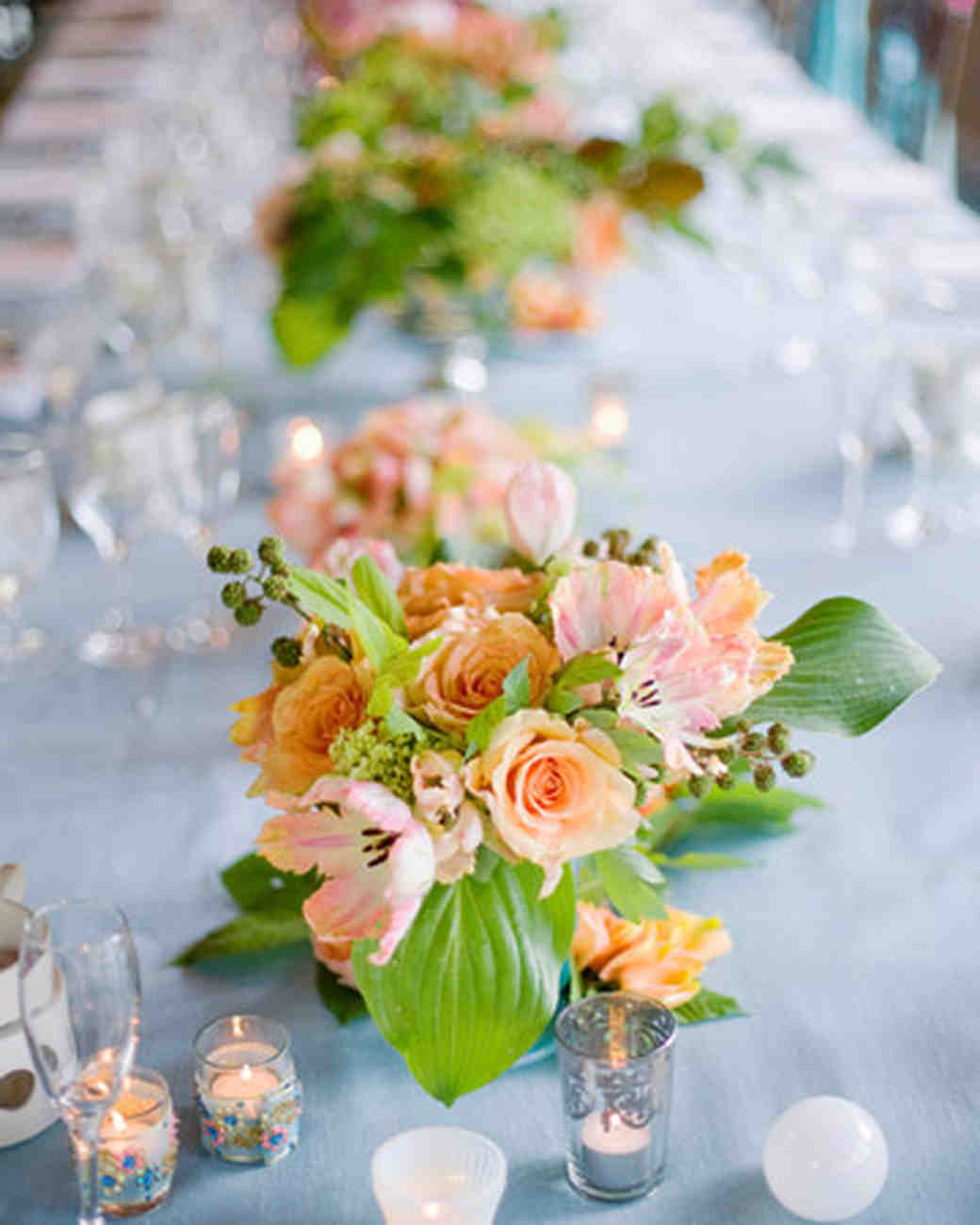 Orange Wedding Centerpieces Martha Stewart Weddings