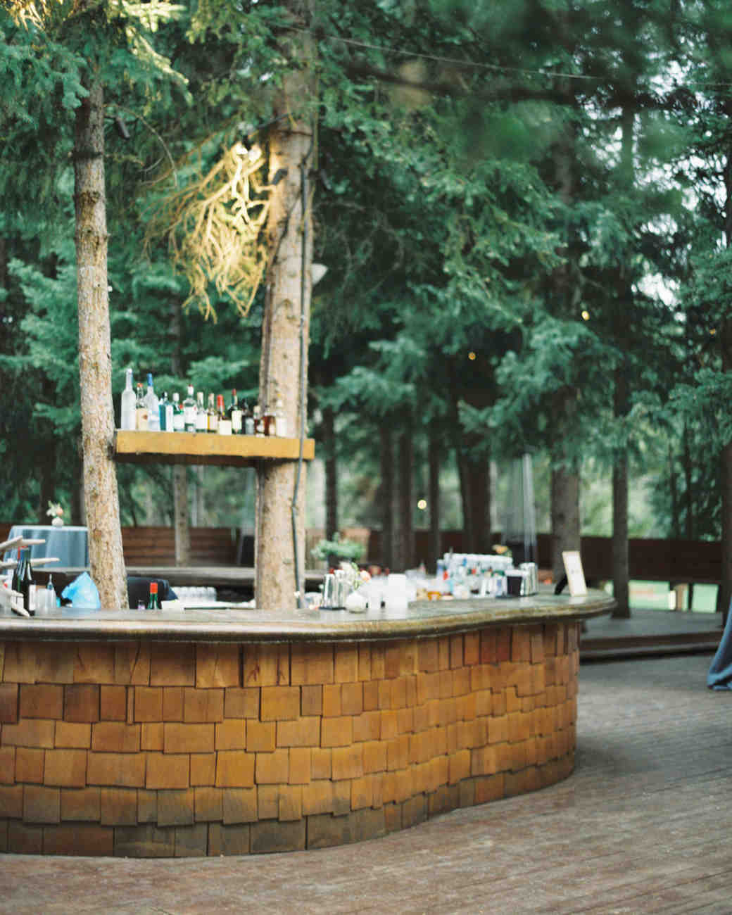 Yellowstone Club outdoor wedding bar