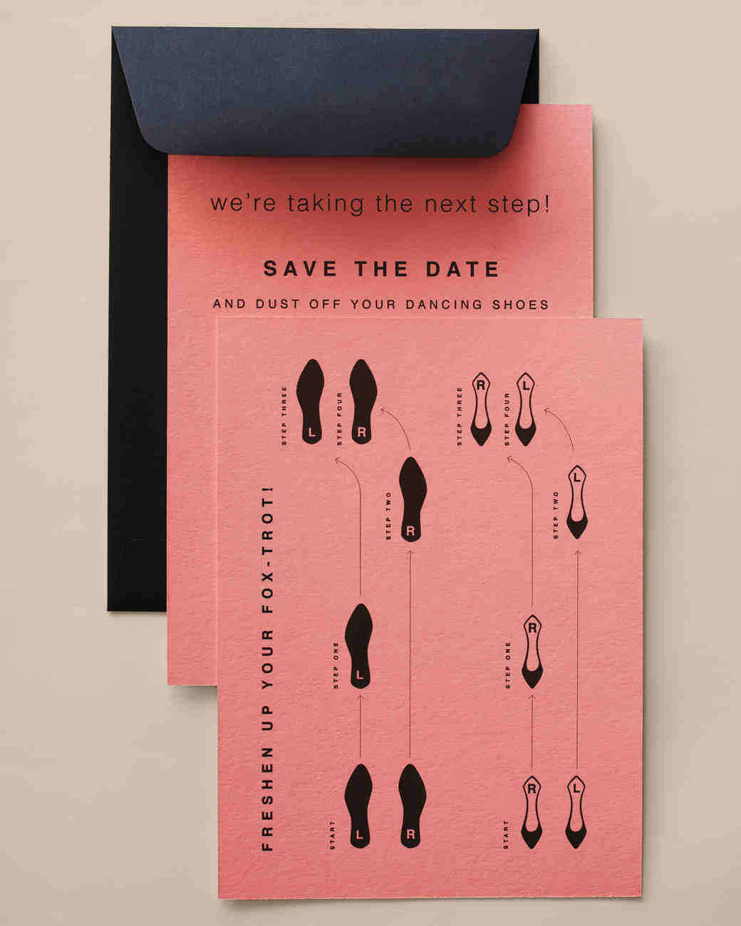 30 diy save the dates to kick off your wedding martha stewart fancy footwork save the date pronofoot35fo Images