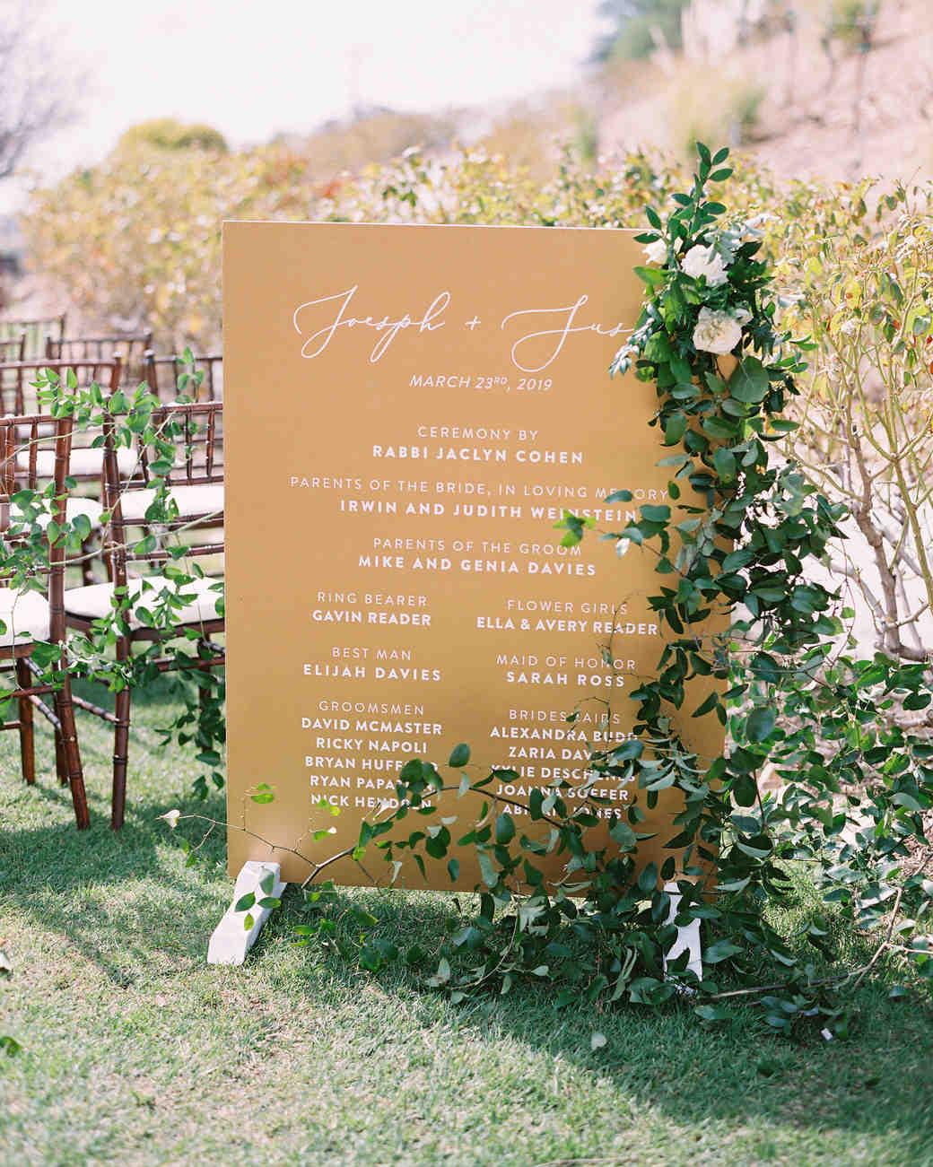 susie joe wedding sign