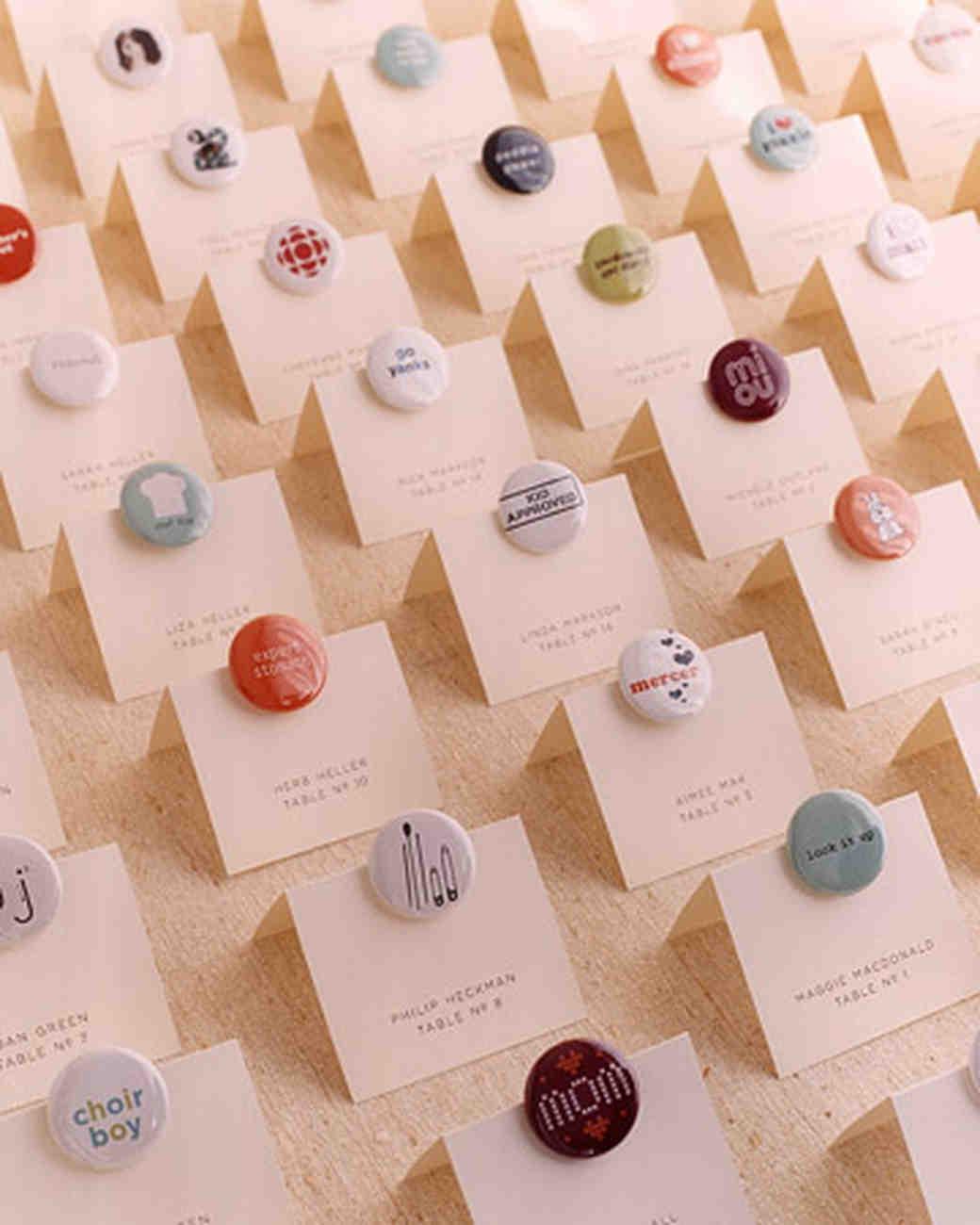 Favor Seating Cards and Displays Martha Stewart Weddings