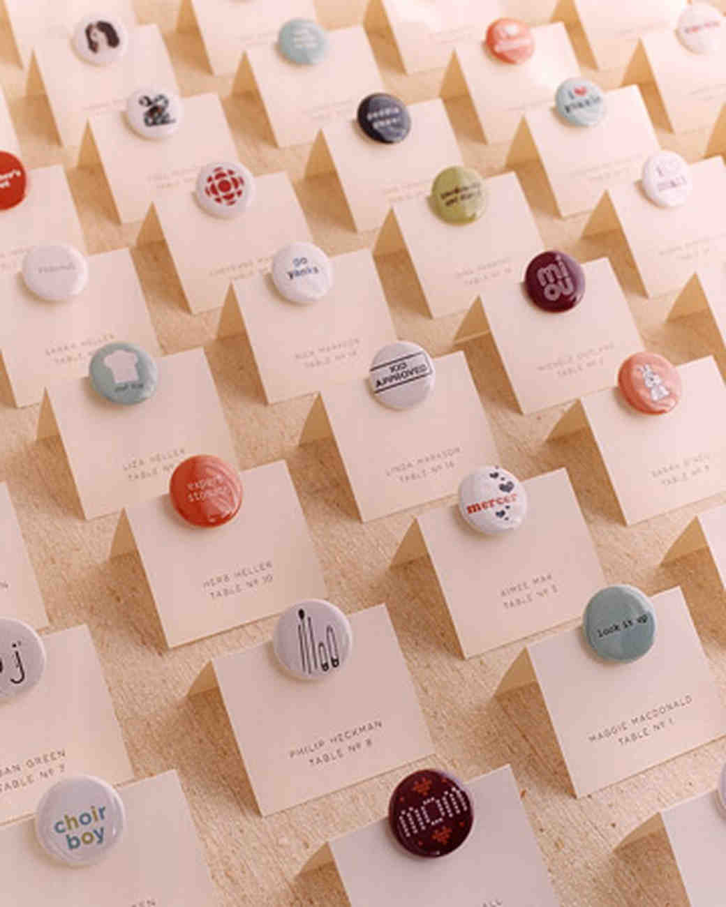 Favor Seating Cards and Displays | Martha Stewart Weddings