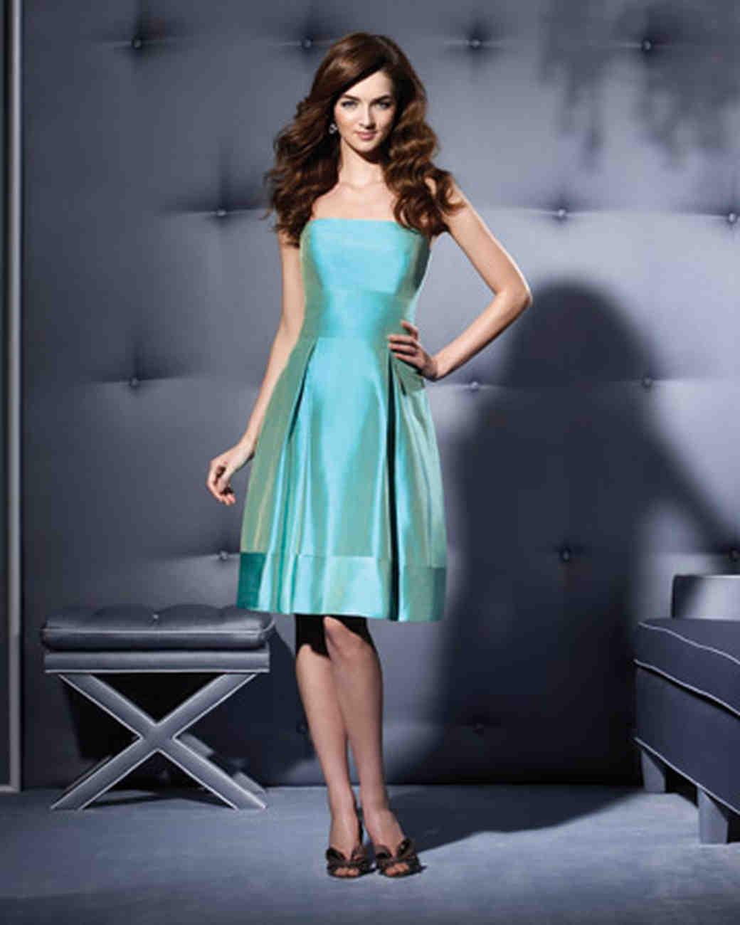 Blue and Green Bridesmaid Dresses | Martha Stewart Weddings