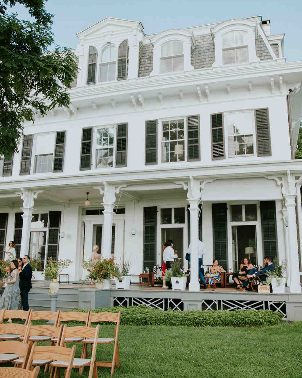 white mansion wedding venue