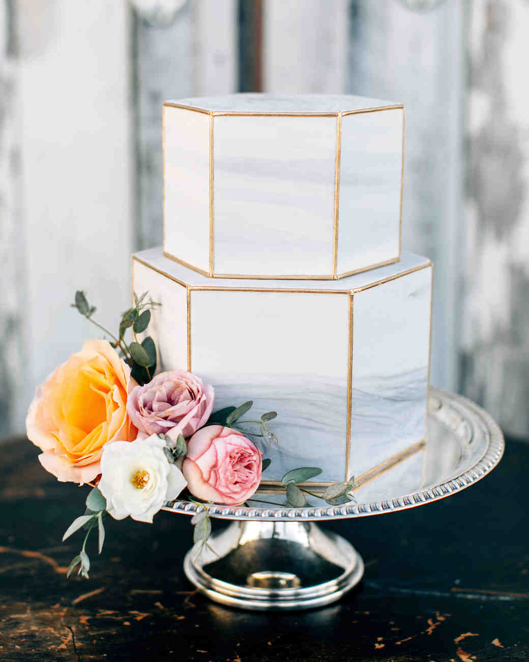 25 wedding cake design ideas thatll wow your guests martha cake designs lora grady junglespirit Gallery