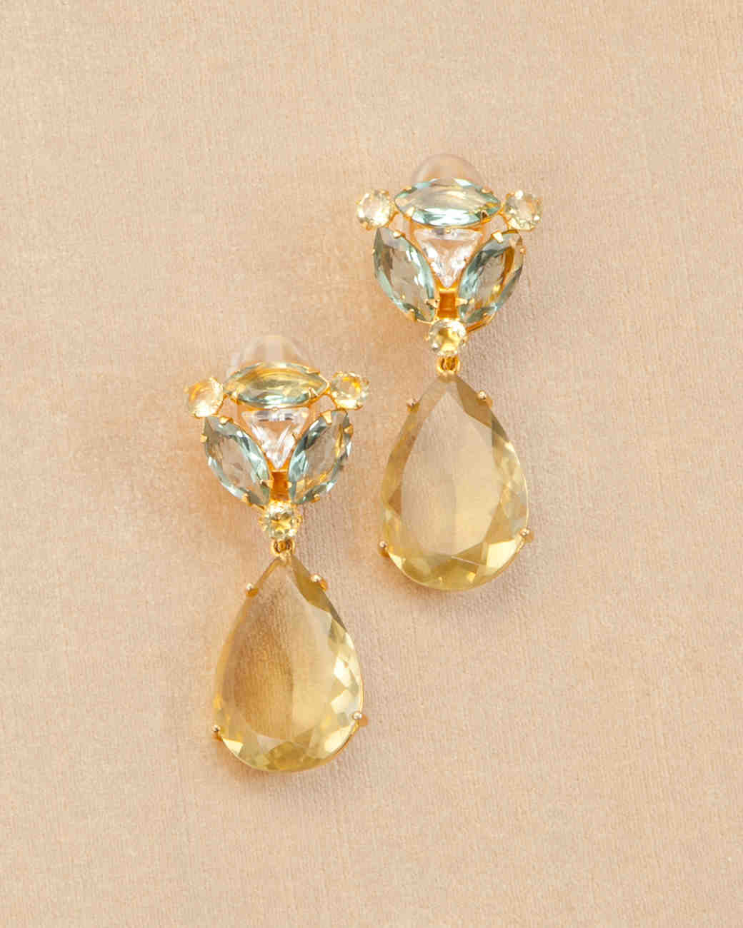 Gold Colorful Gemstoneore Costume Jewelry To Complete Your Wedding Look Martha Weddings