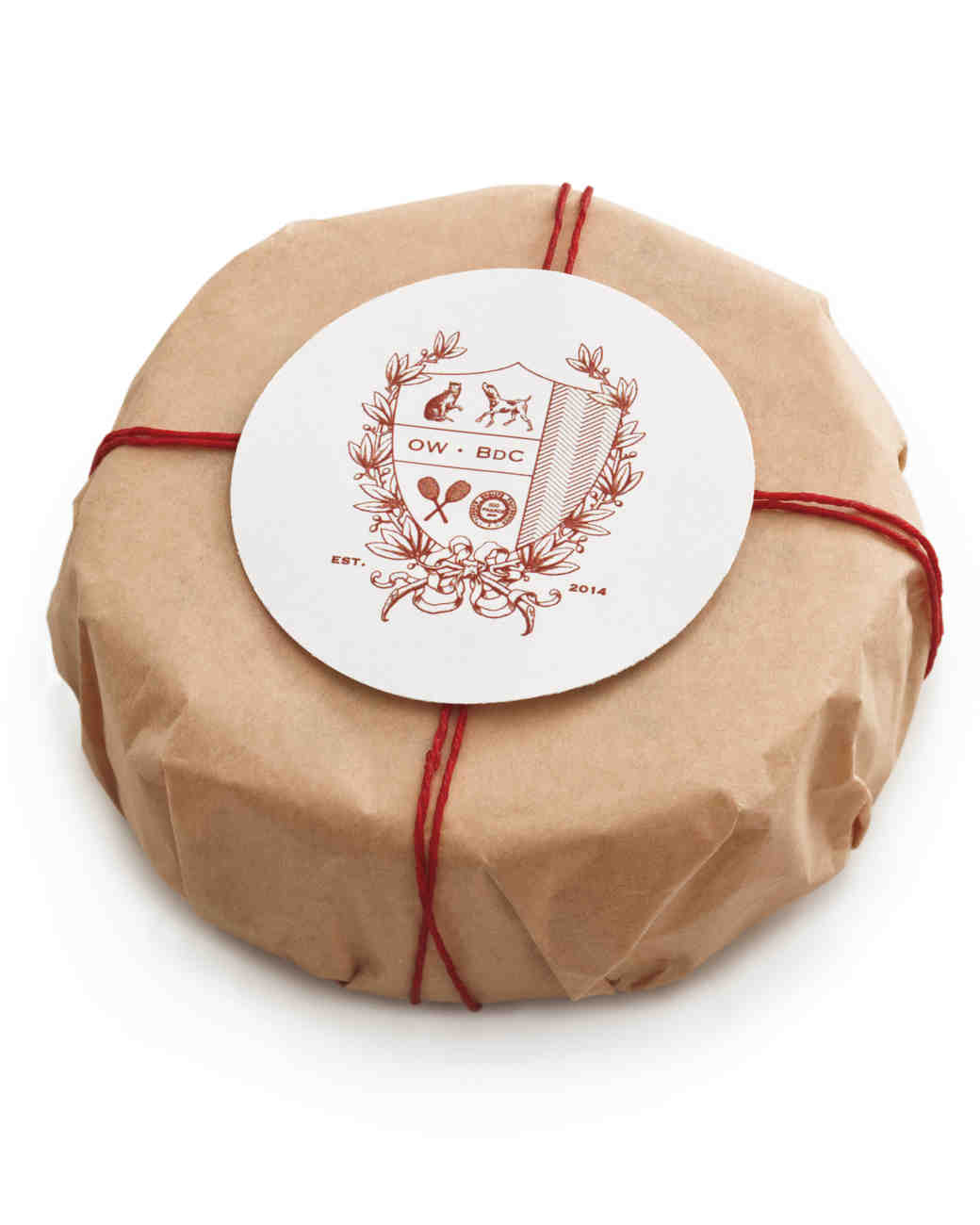 Good things wedding favors martha stewart weddings custom favor crest negle Images