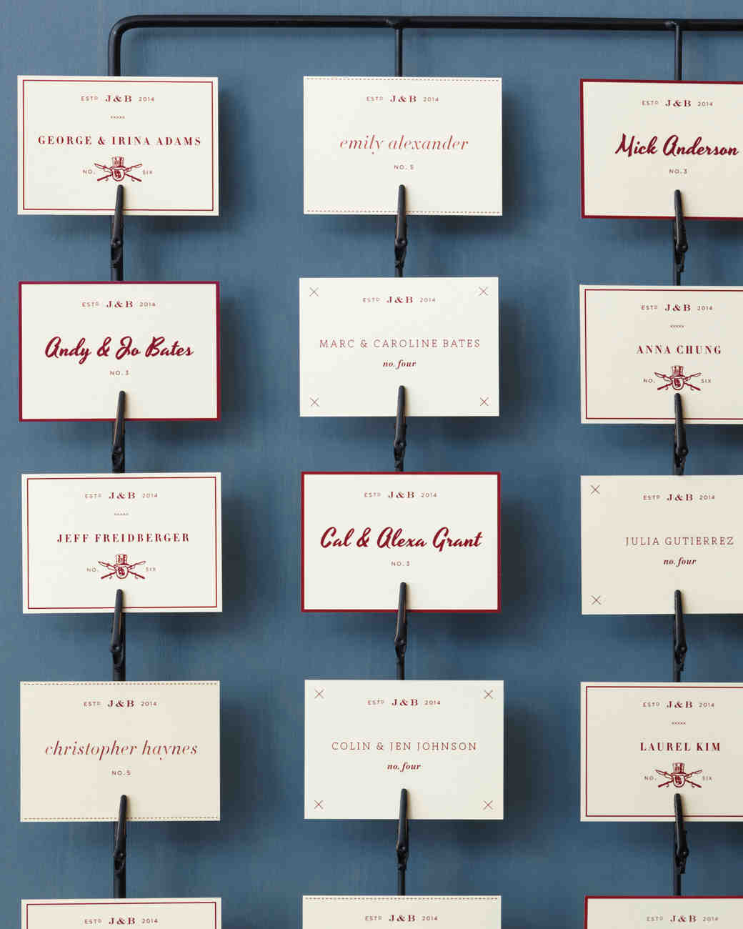 Wire Escort Card Display Good Things Seating