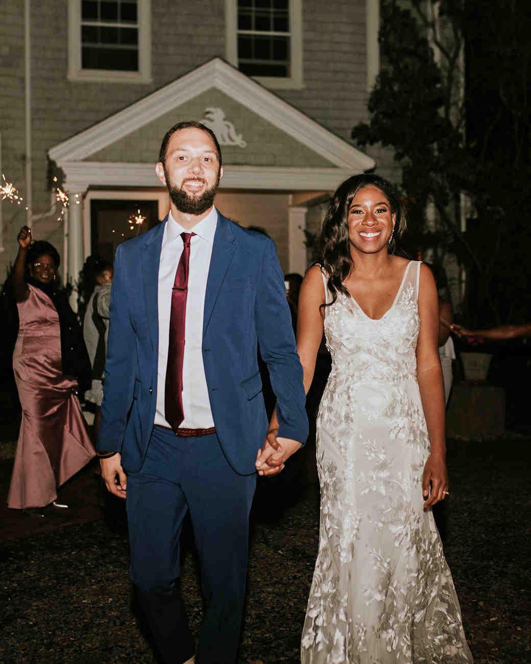 ferbie rob boho wedding sparkler exit