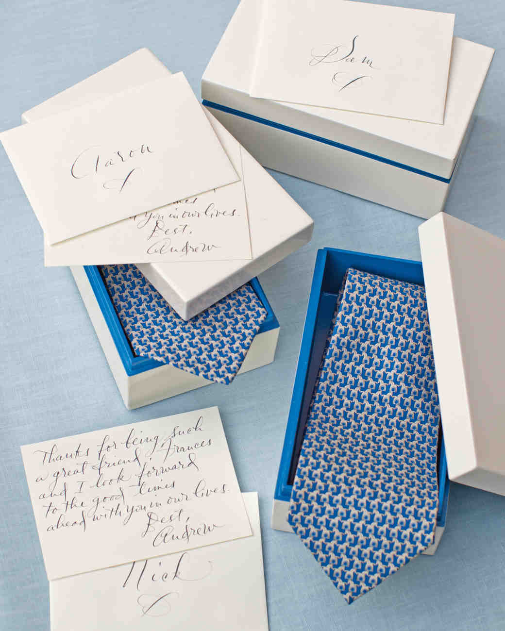Ties and Calligraphed Notes
