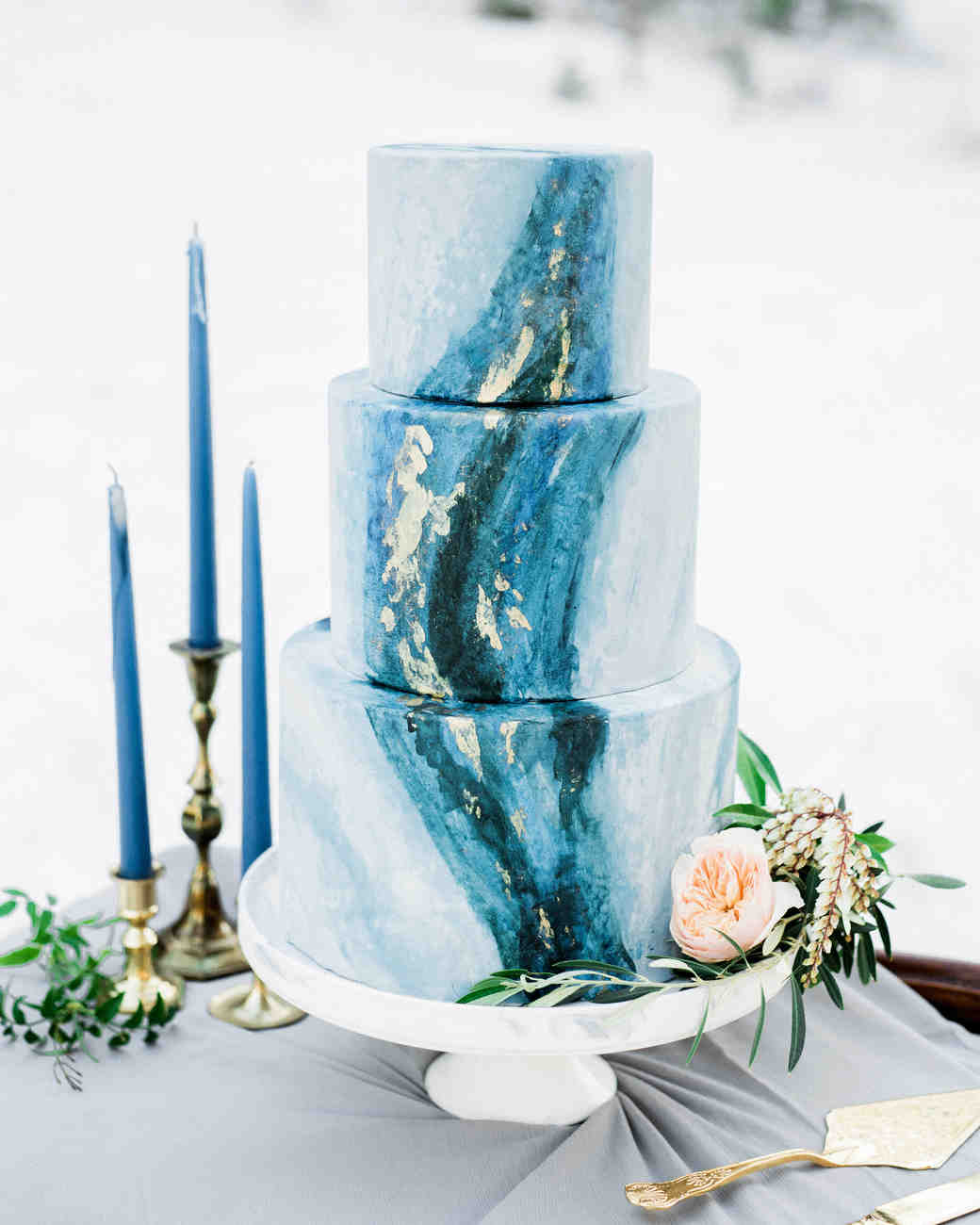 marbled cake blue