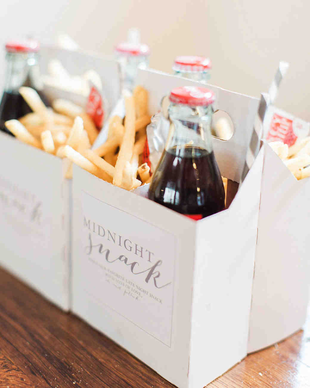 soda fries snack wedding favors