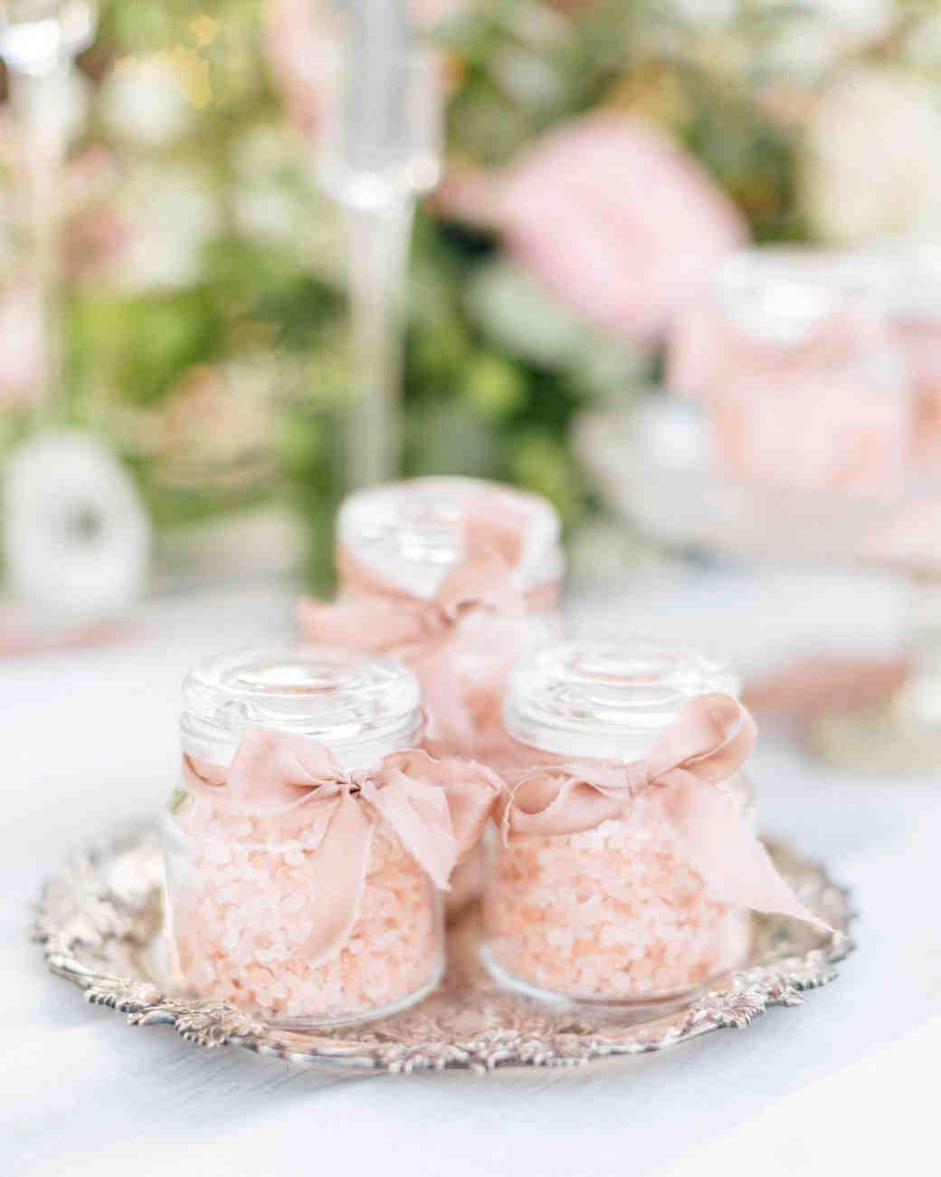 pink salt jars