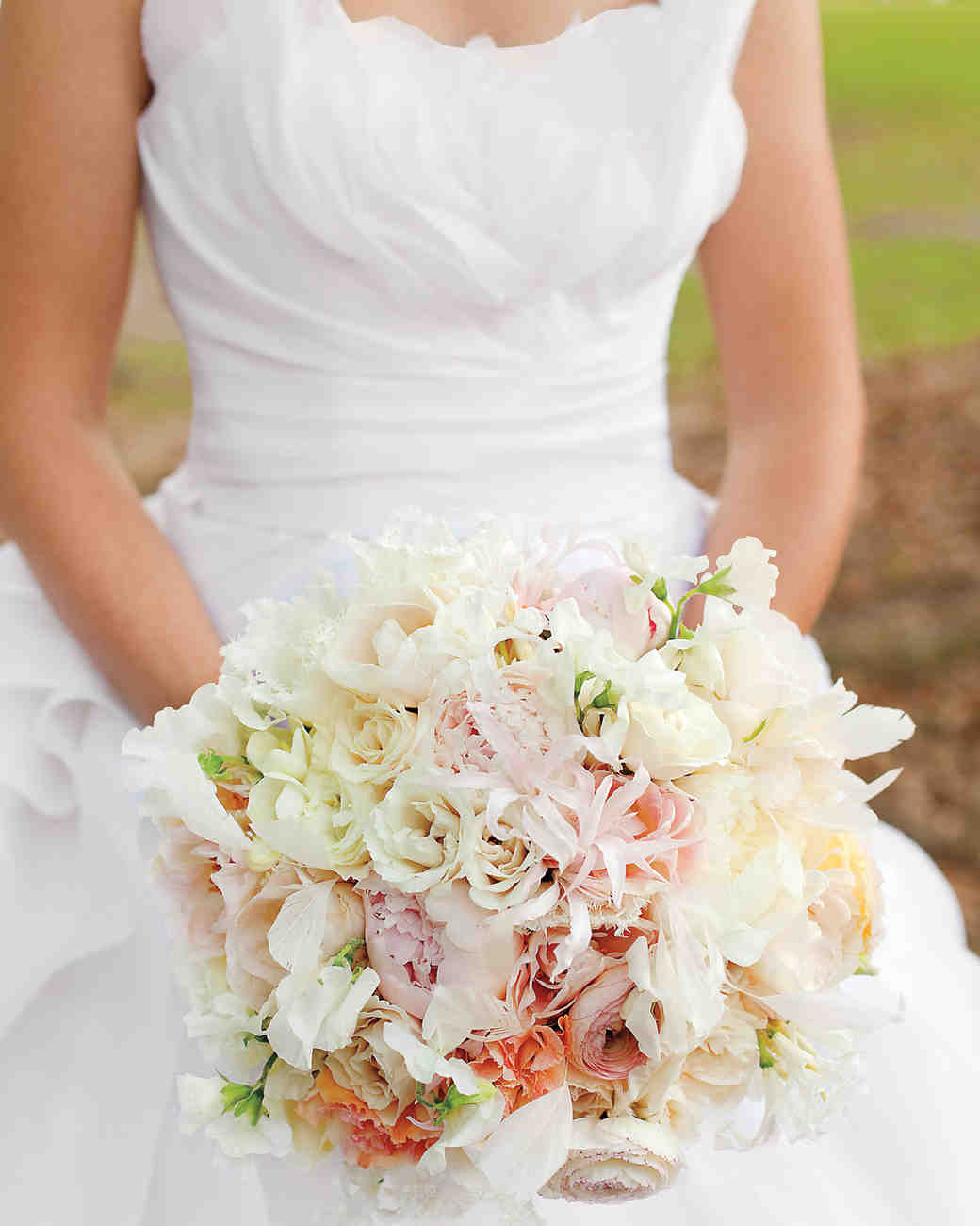 Light Pink and Peach Wedding Bouquet