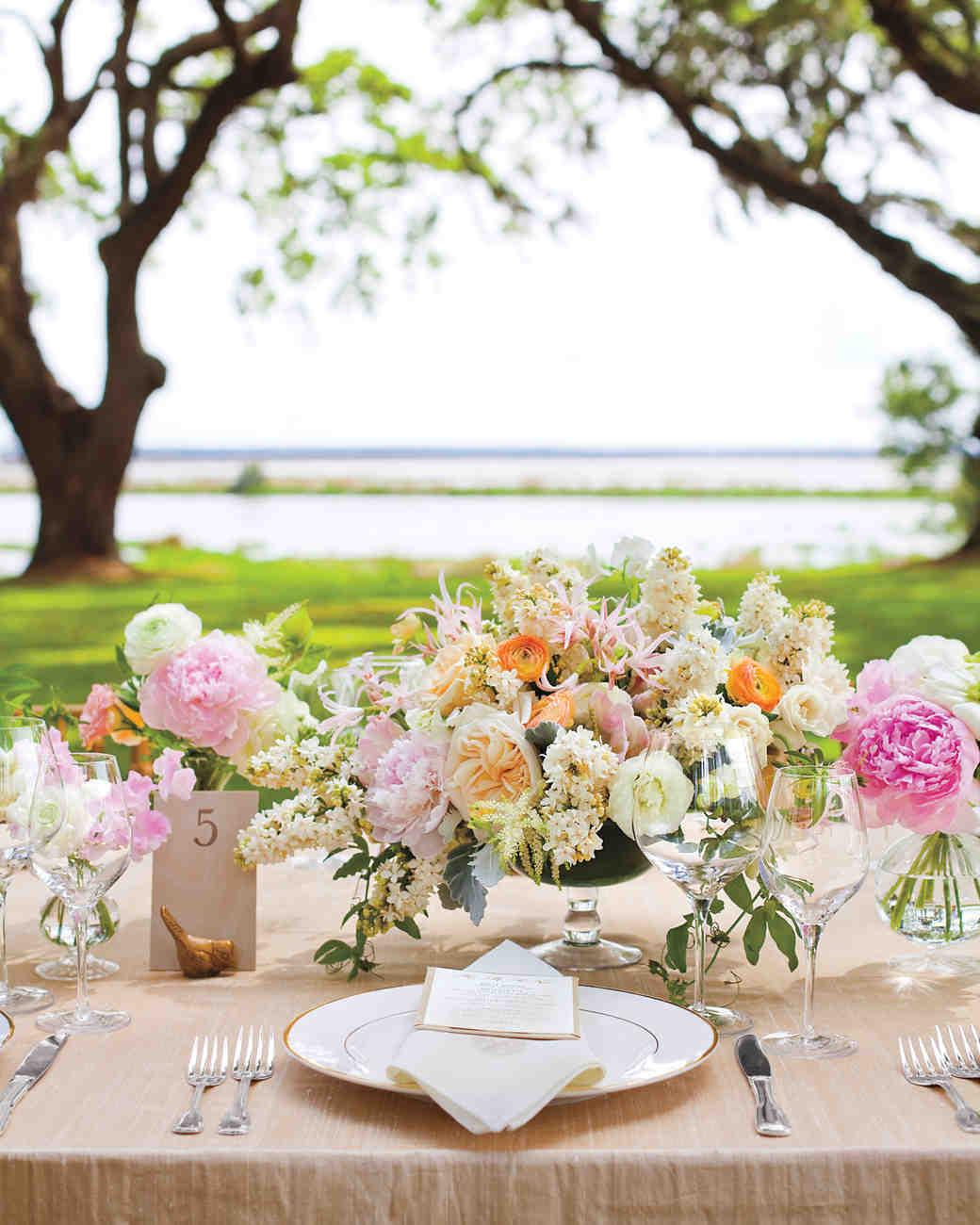 Martha Stewart Weddings: The Prettiest Peony Wedding Centerpieces