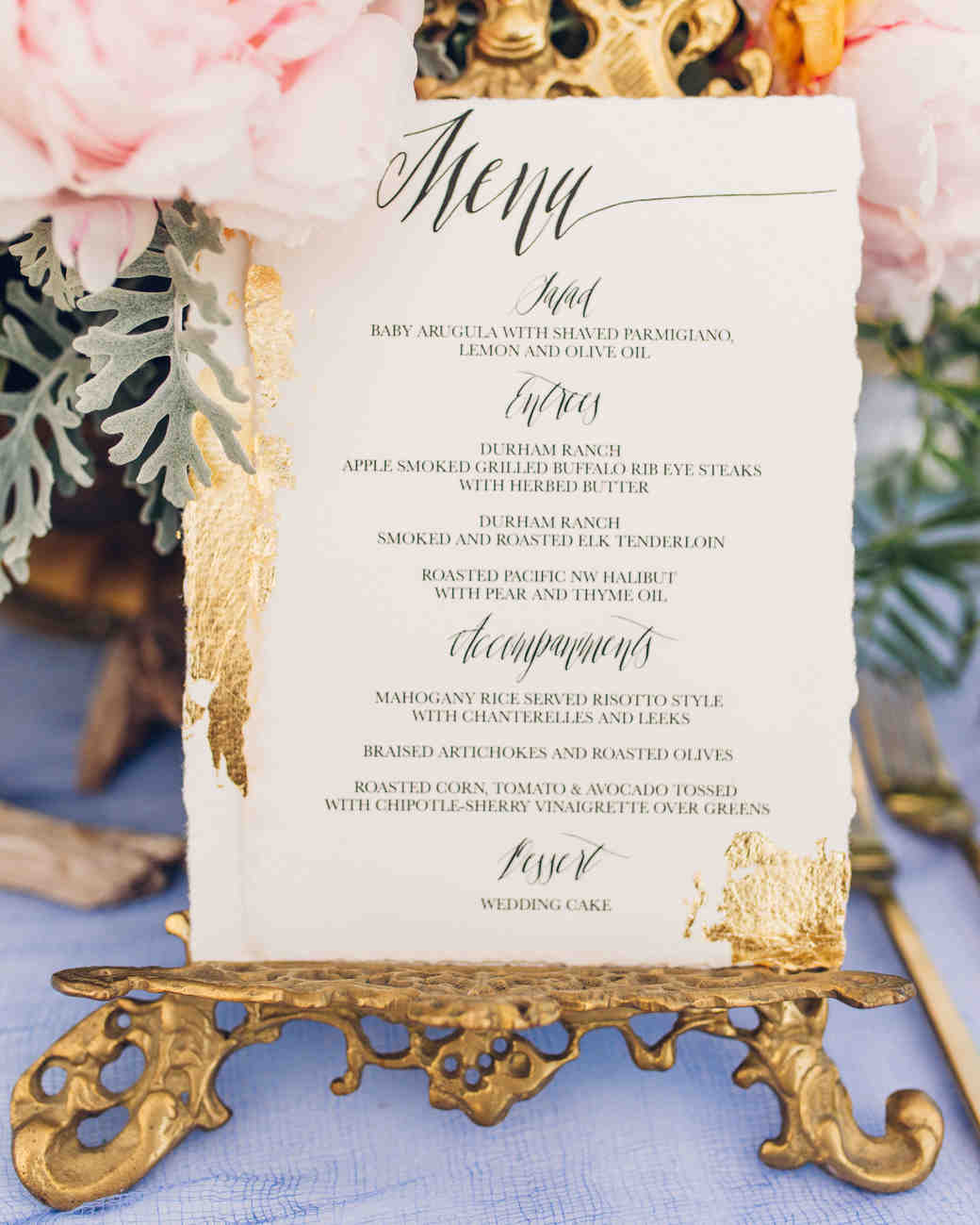 33 pretty and unexpected wedding menu ideas martha stewart weddings stopboris