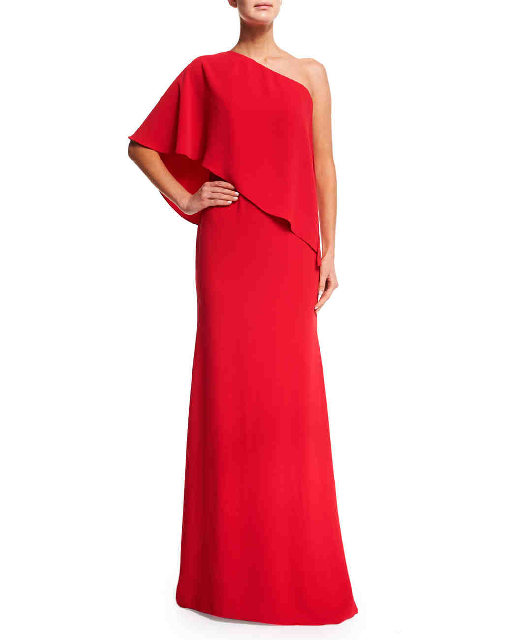 Red One-Shouldered Gown