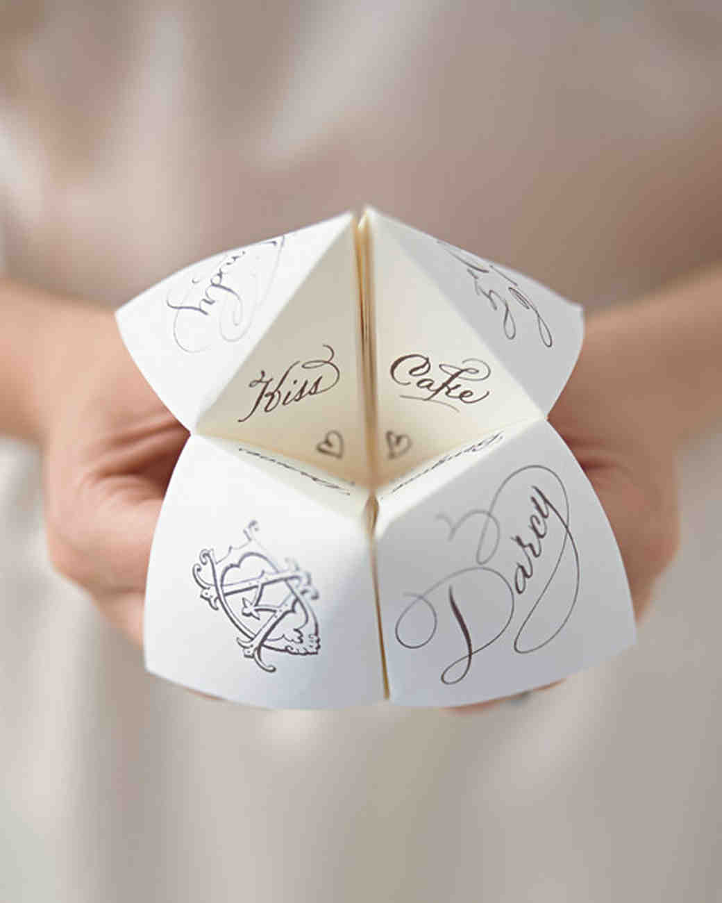 Cootie Catcher Wedding Favor