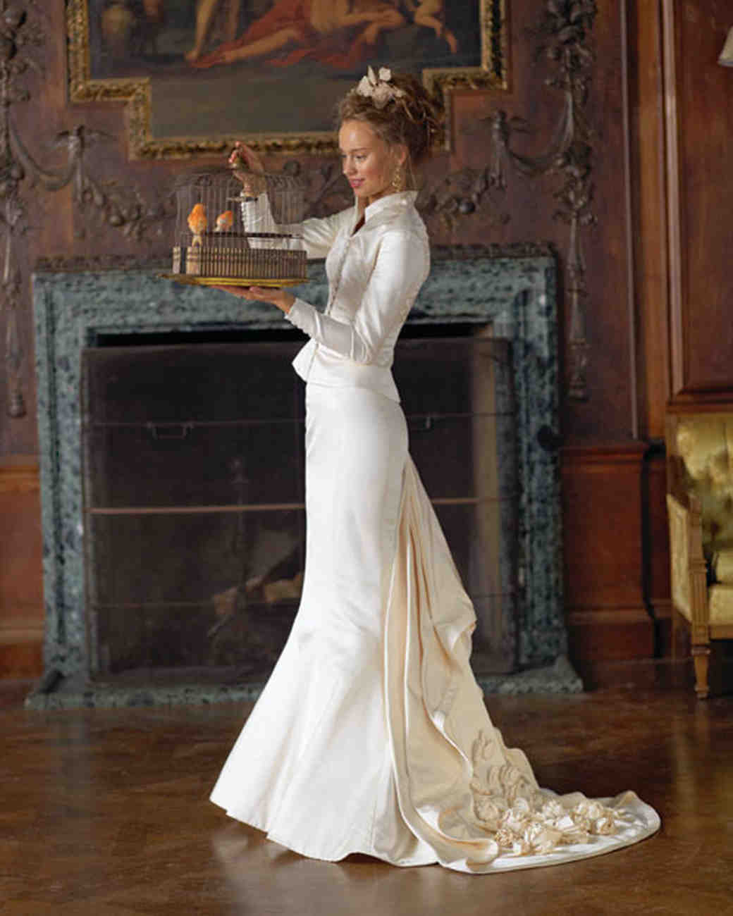 Classic wedding dress cuts by decade martha stewart weddings victorian wedding dress junglespirit Images