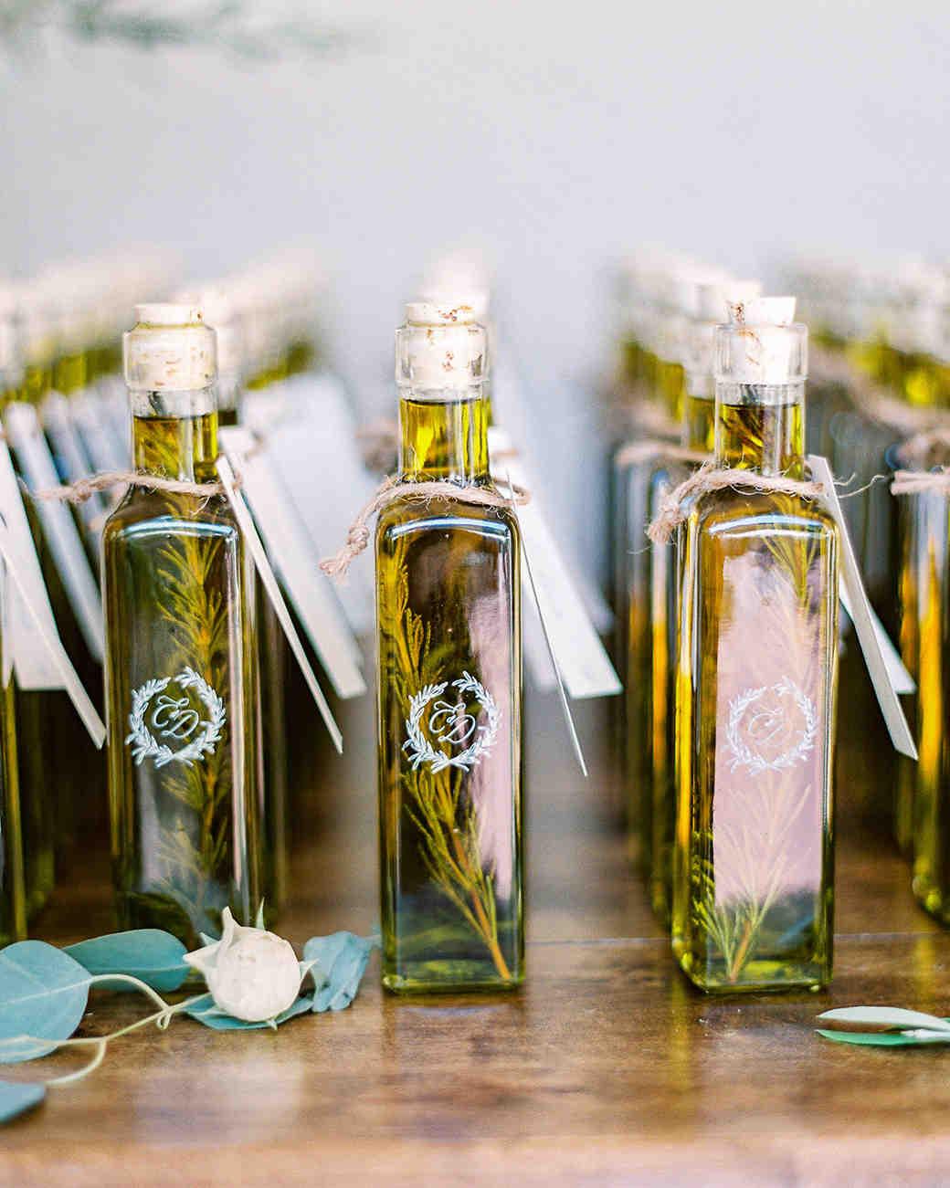 monogrammed olive oil bottles