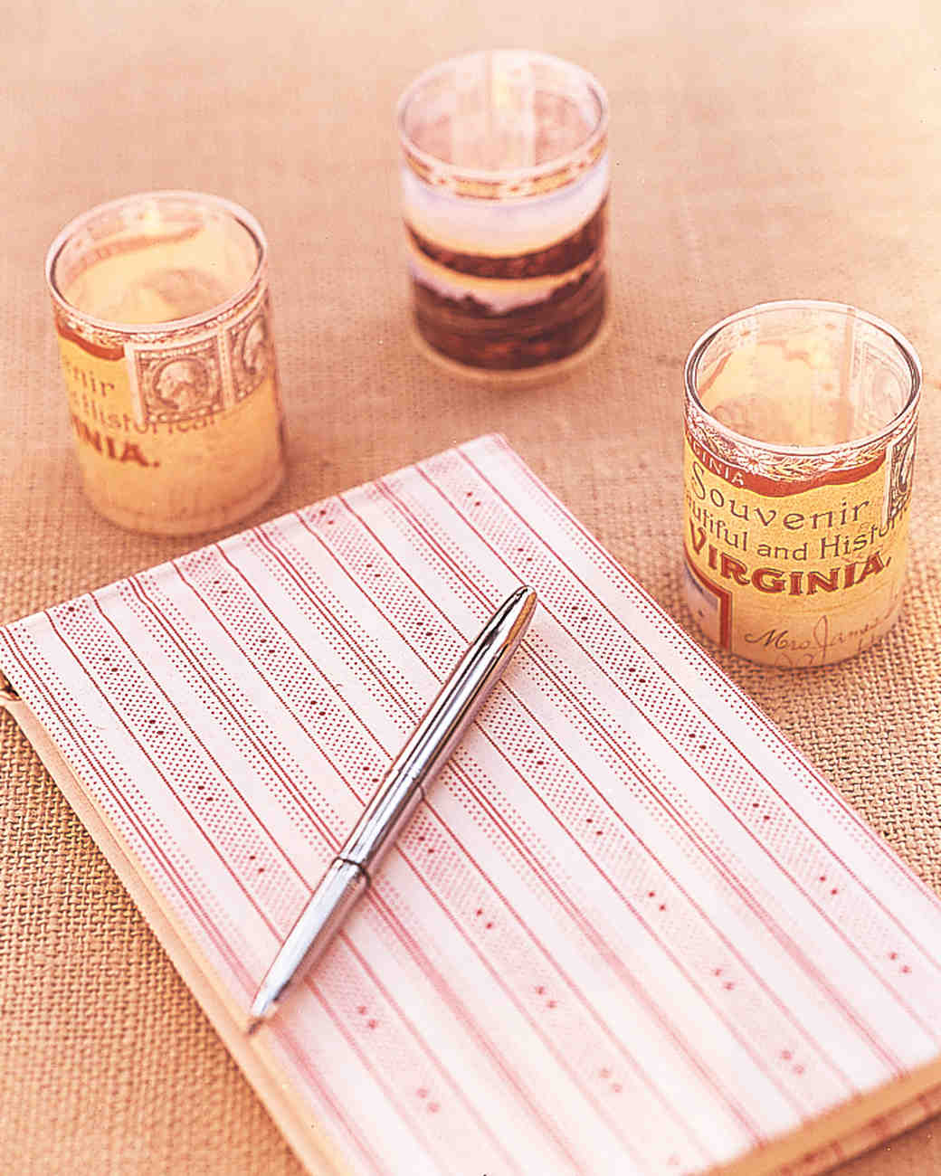 Fabric-Covered Guest Book
