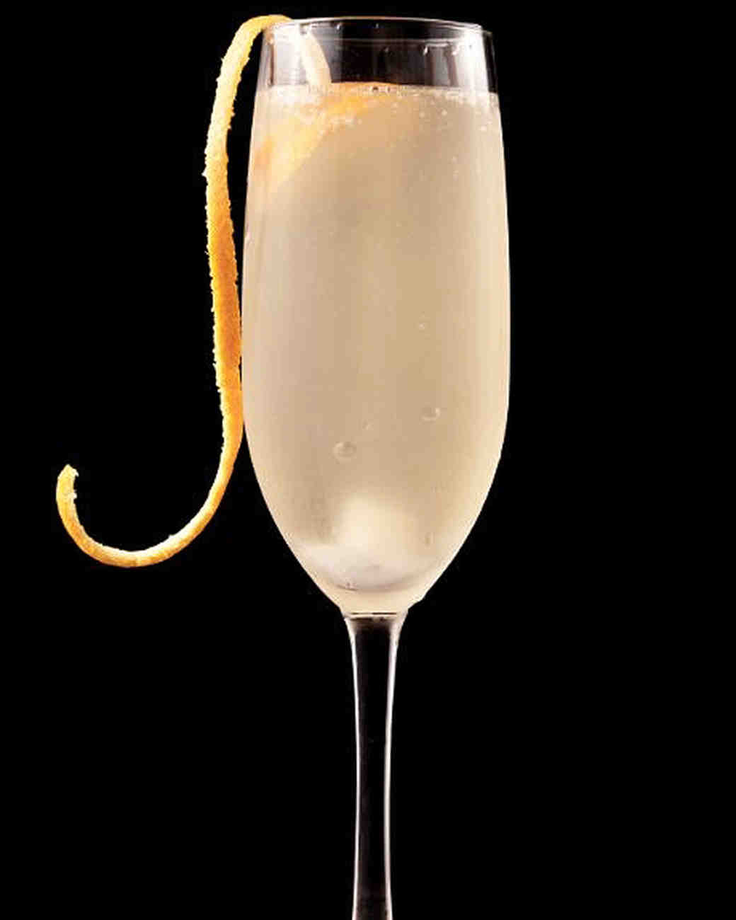 Rosé cocktail French 75