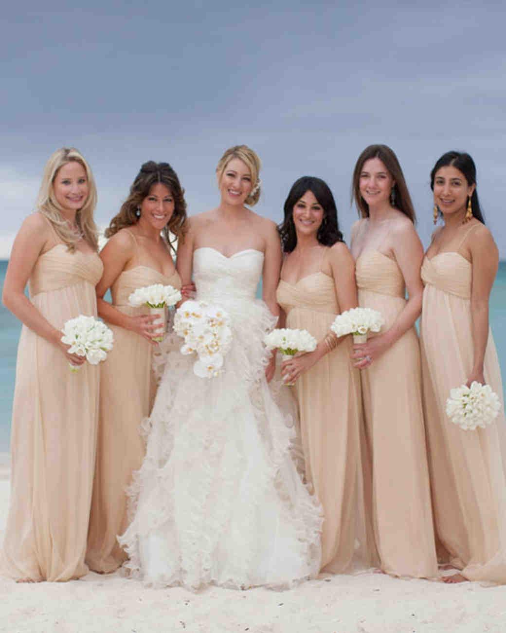 Simple Beach Wedding Bridesmaid Dresses