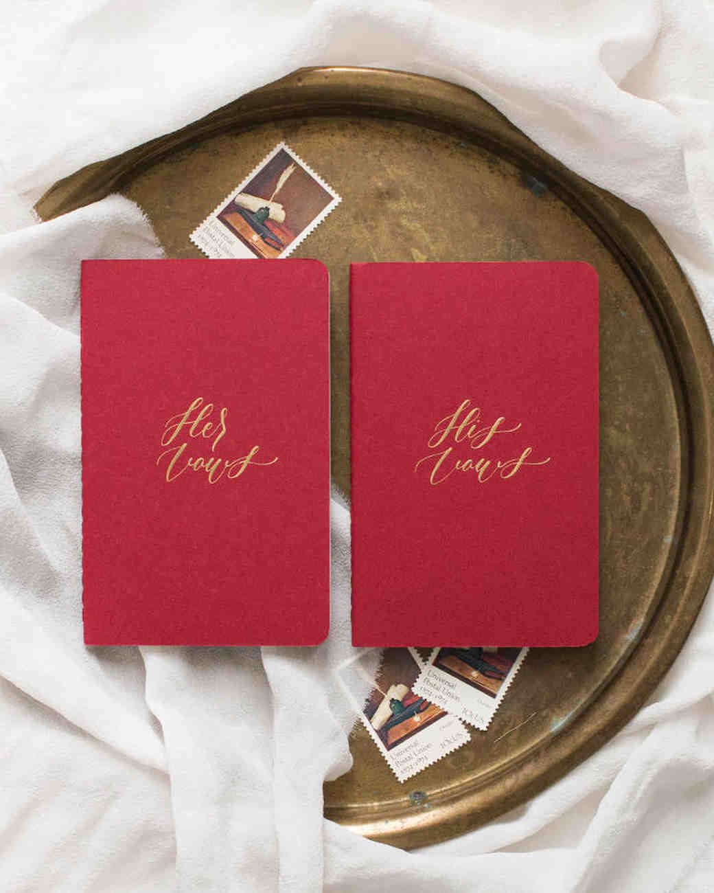 vow books bold red with gold writing