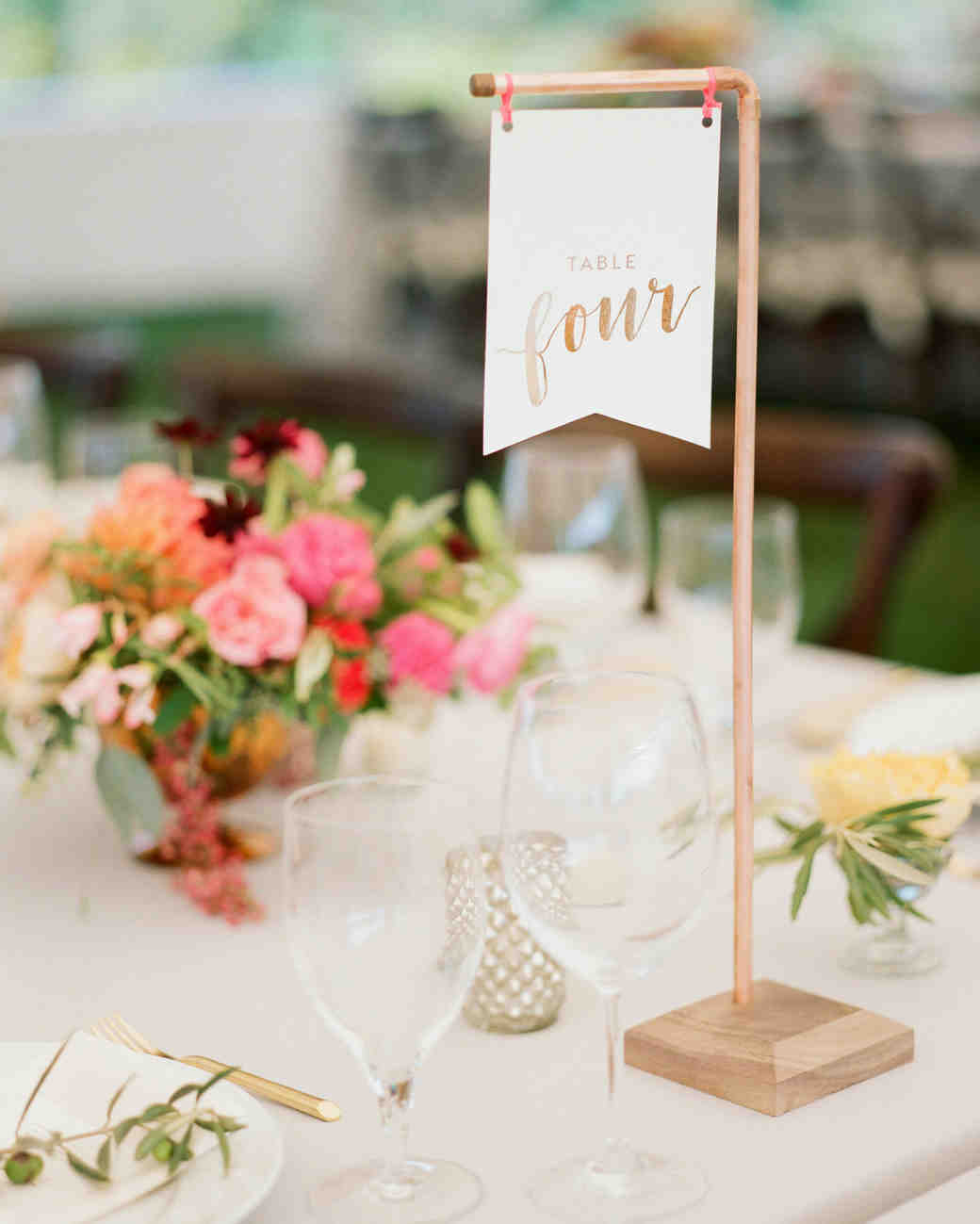 banner decor table numbers flower centerpieces