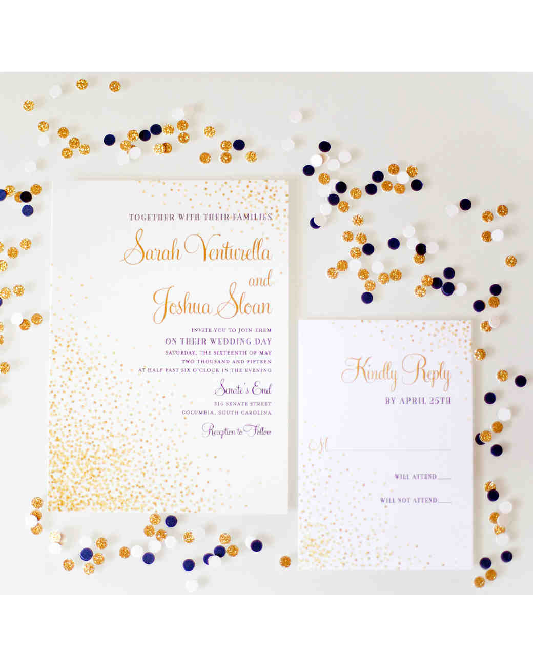 confetti invitations holly graciano