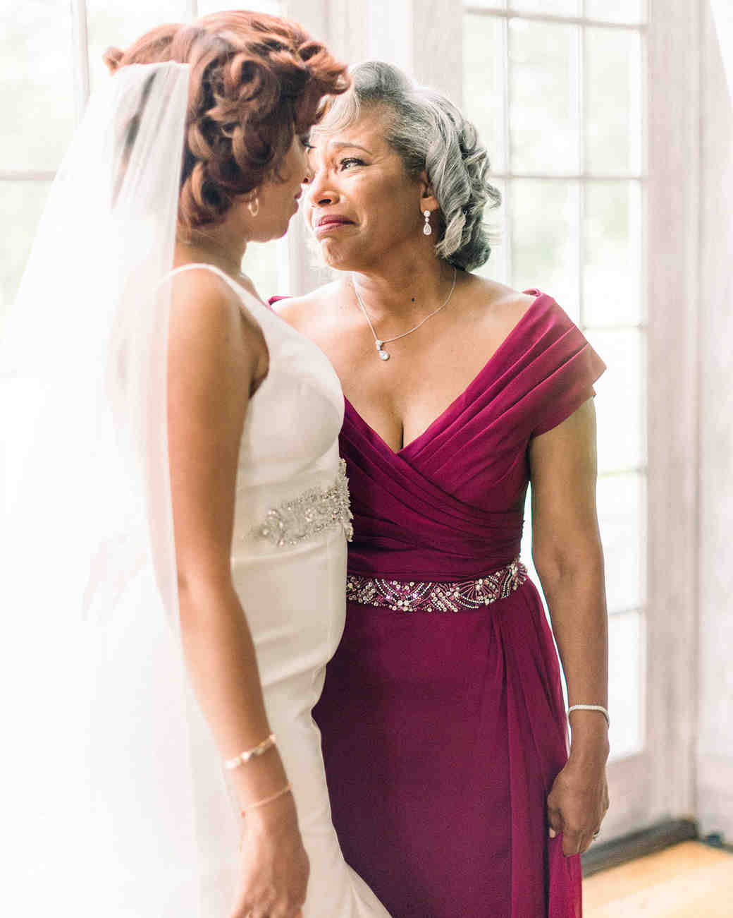 dawn rich wedding bride and mom