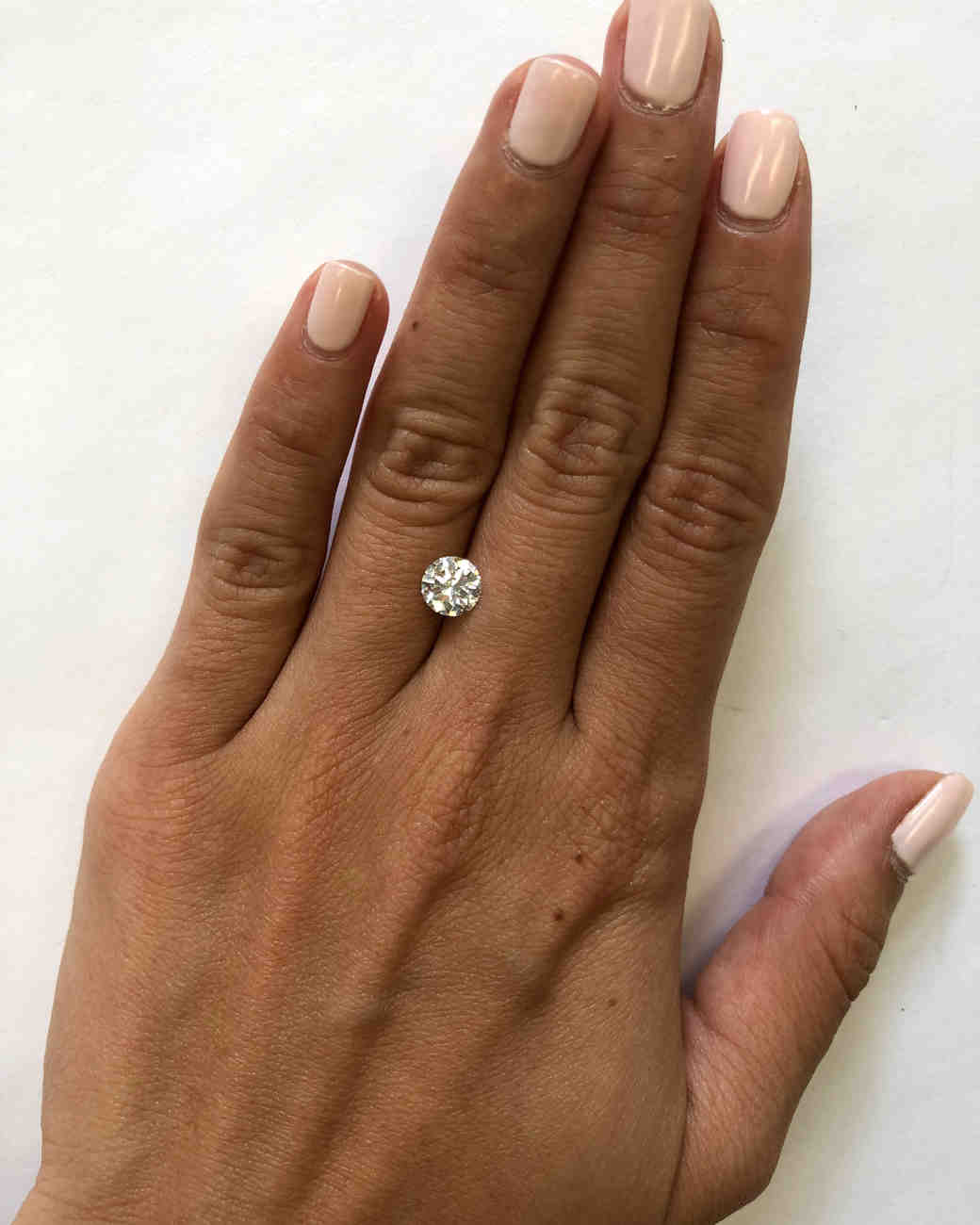 Are Wedding Rings Worn On The Right Hand: This Is What A Diamond Looks Like At Every Size—from .5