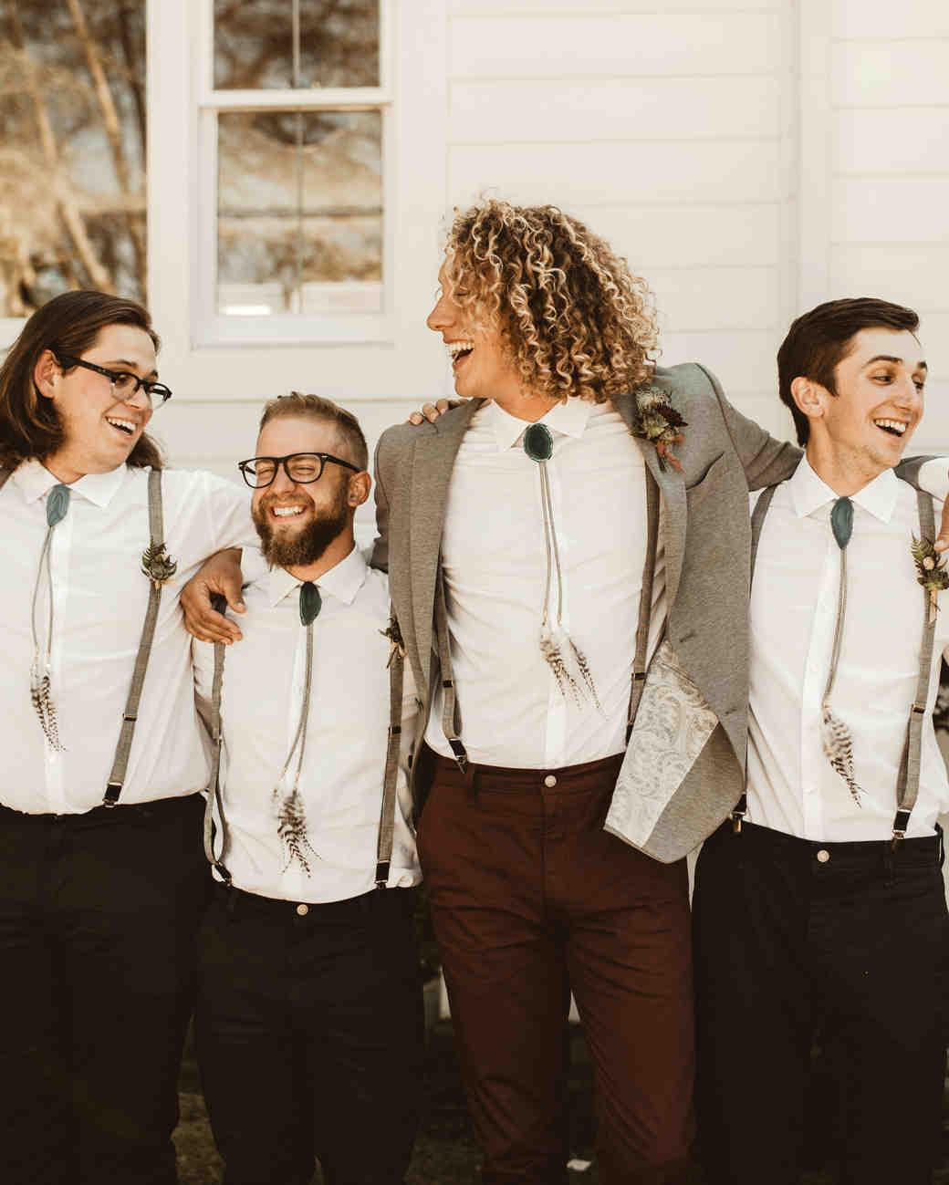 groomsmen moody romantic