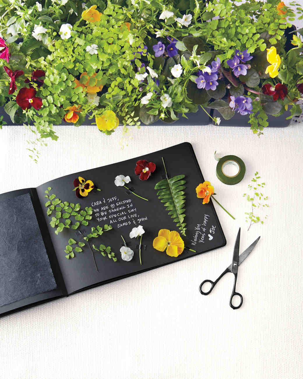 floral wedding guest book DIY Wedding Guest