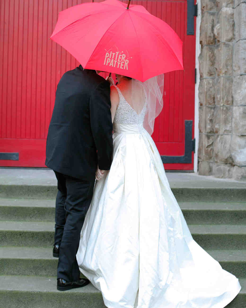 bride groom umbrella