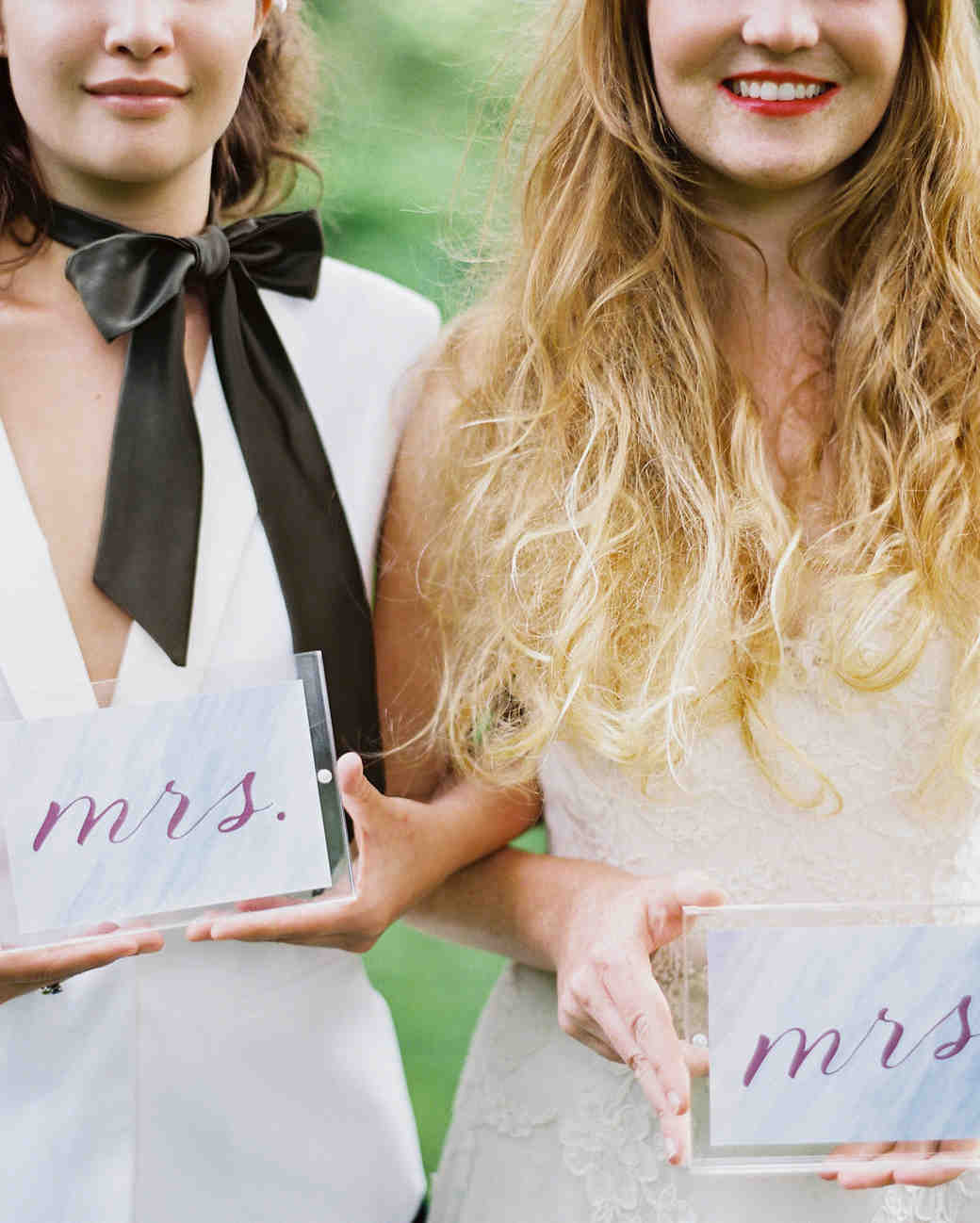 mrs and mrs acrylic signs
