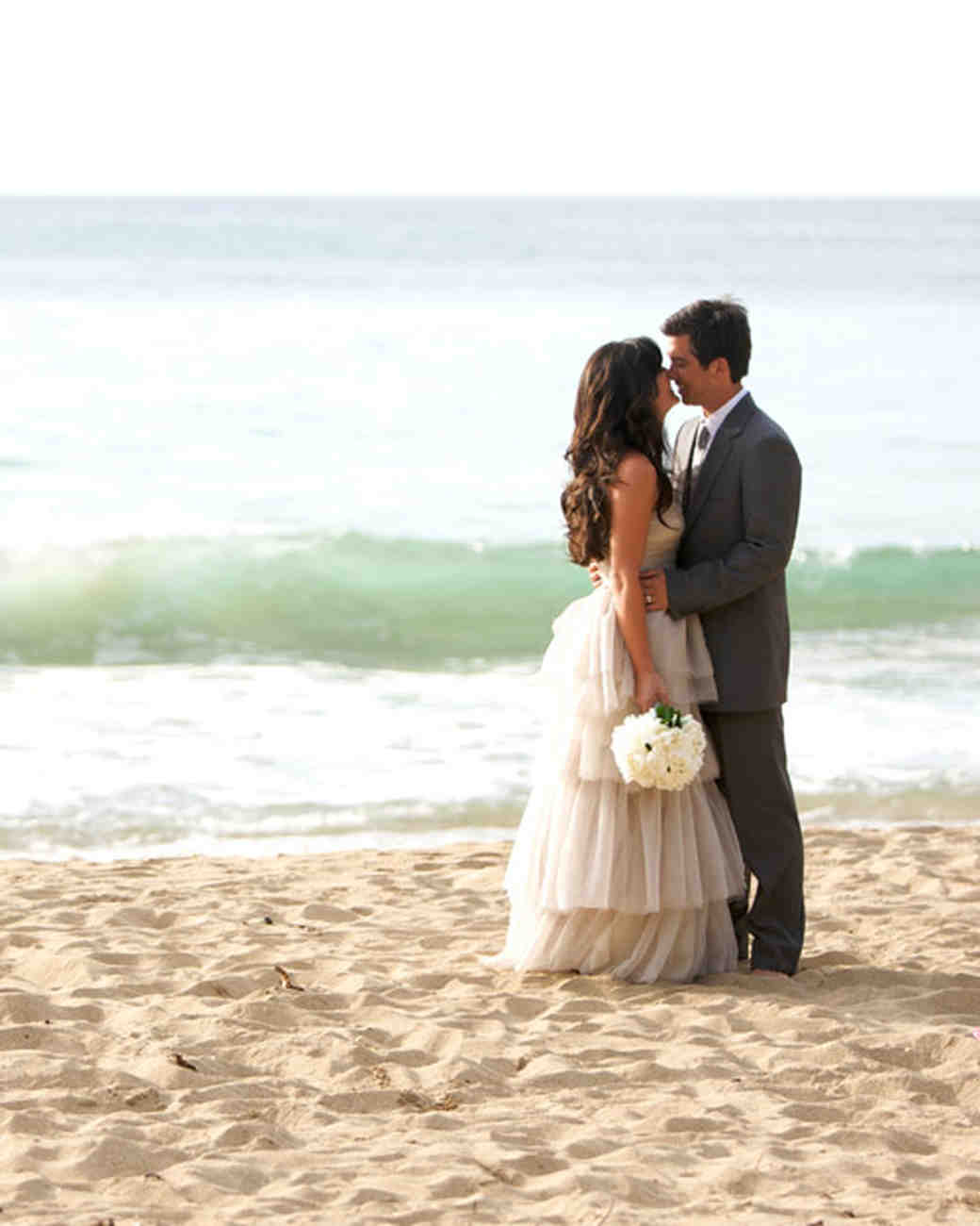 An All-Natural Beach Destination Wedding in Hawaii | Martha Stewart ...