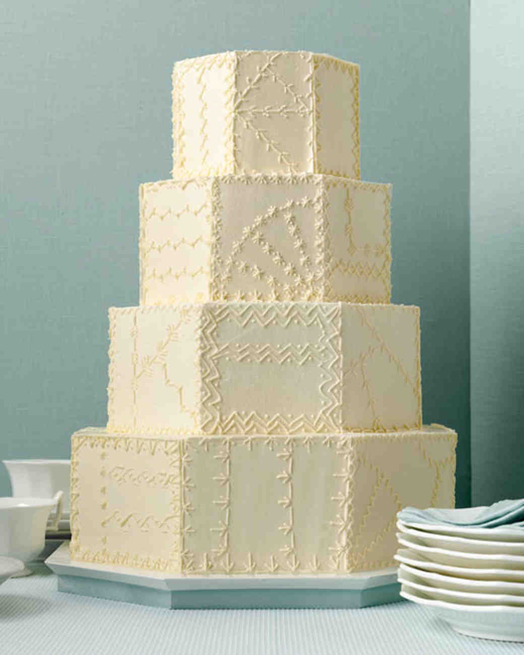 Quilted Wedding Cakes | Martha Stewart Weddings