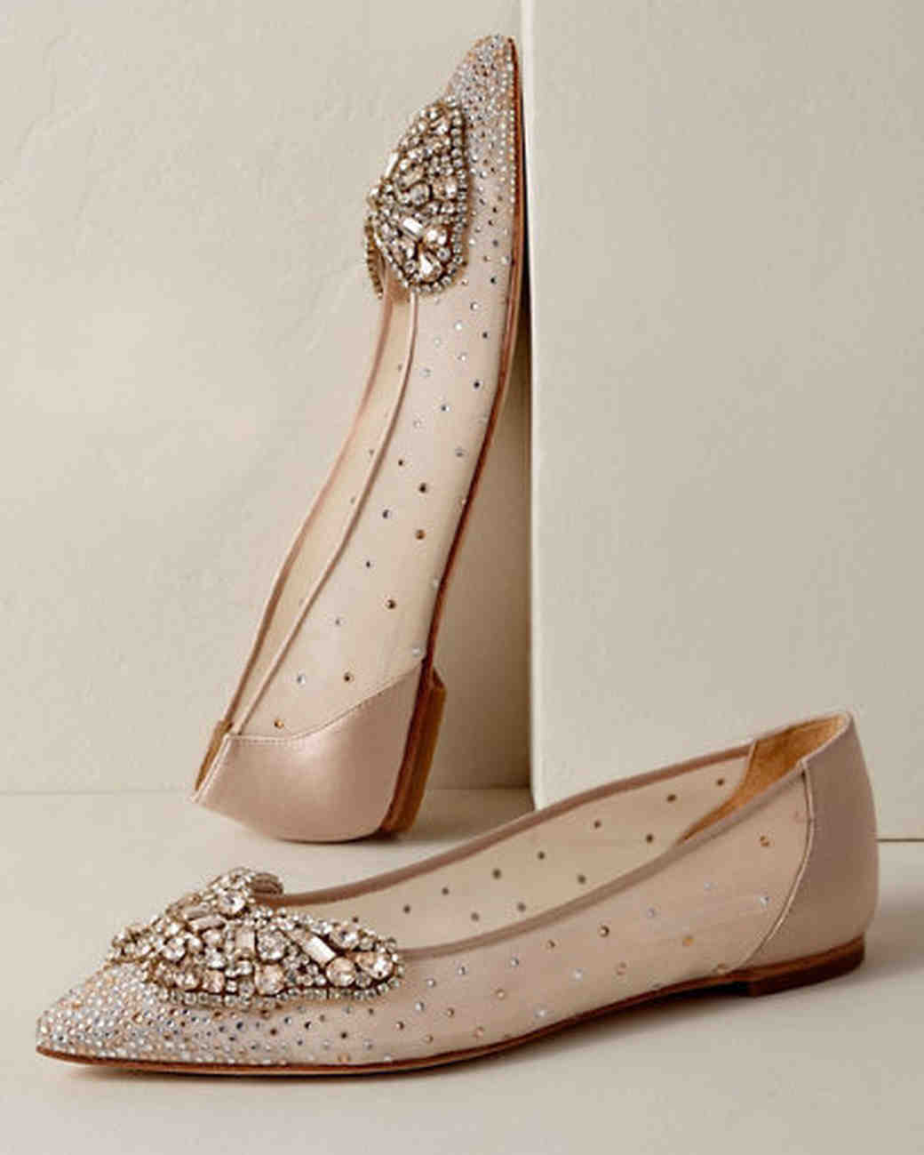 nude shoes diamond queen butterfly flats