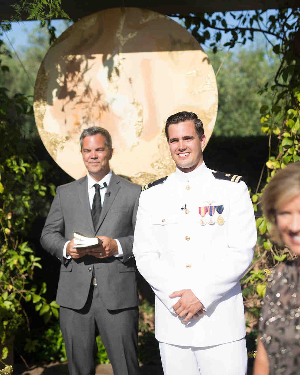 paige zack wedding groom and officiant