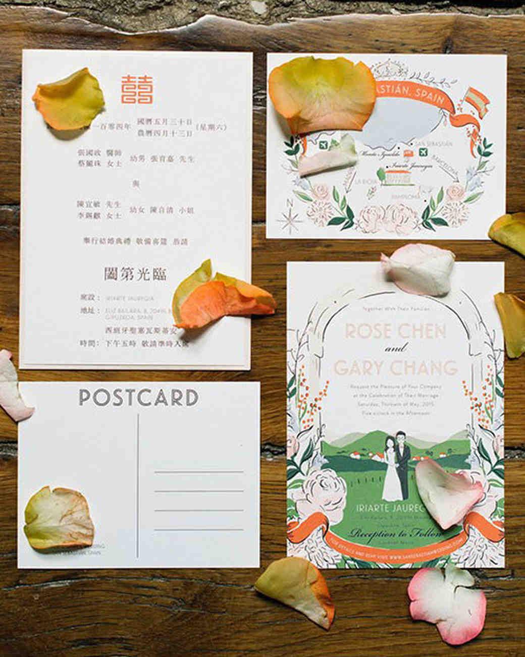 postcard invites ana lui