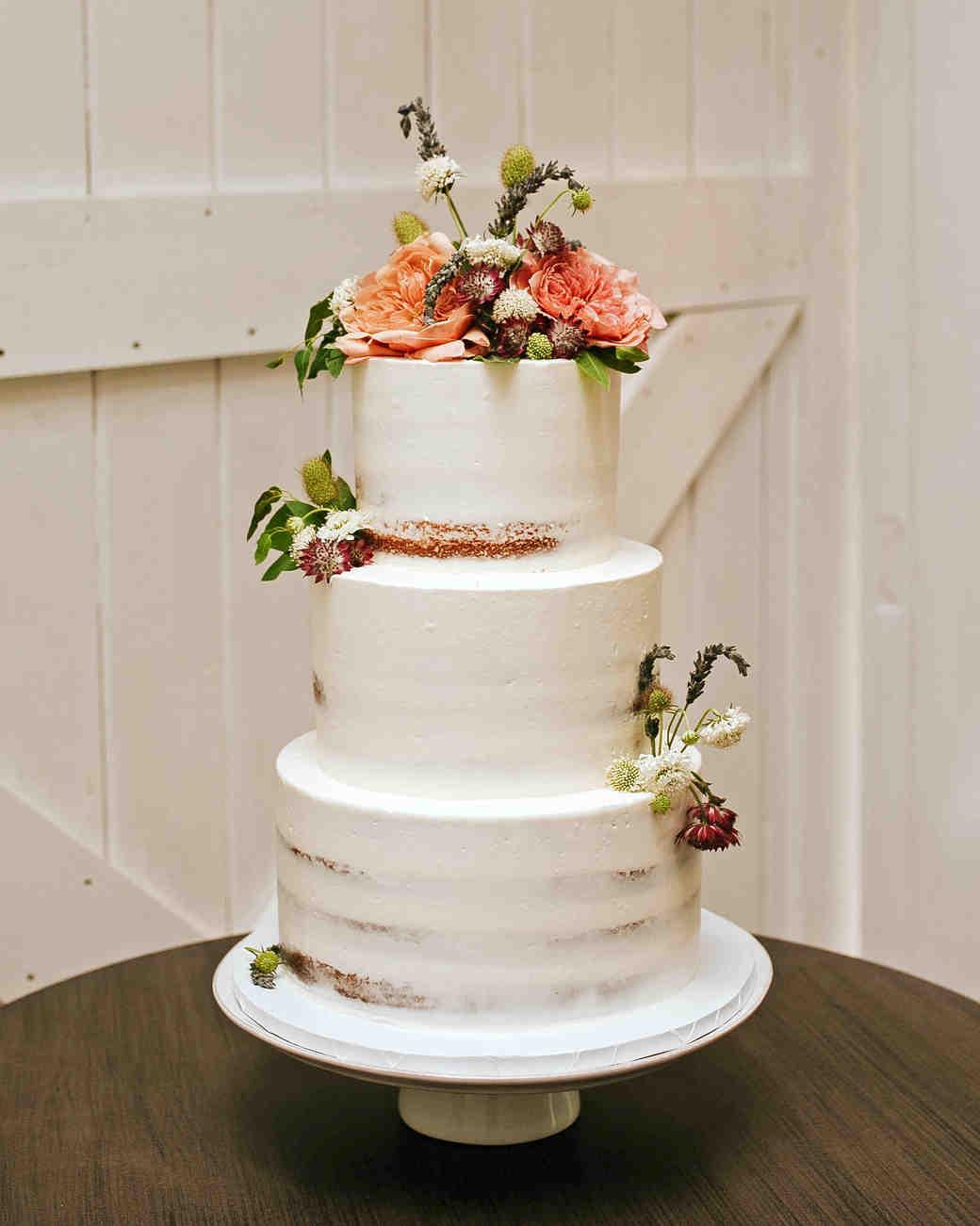 rose chris wedding cake